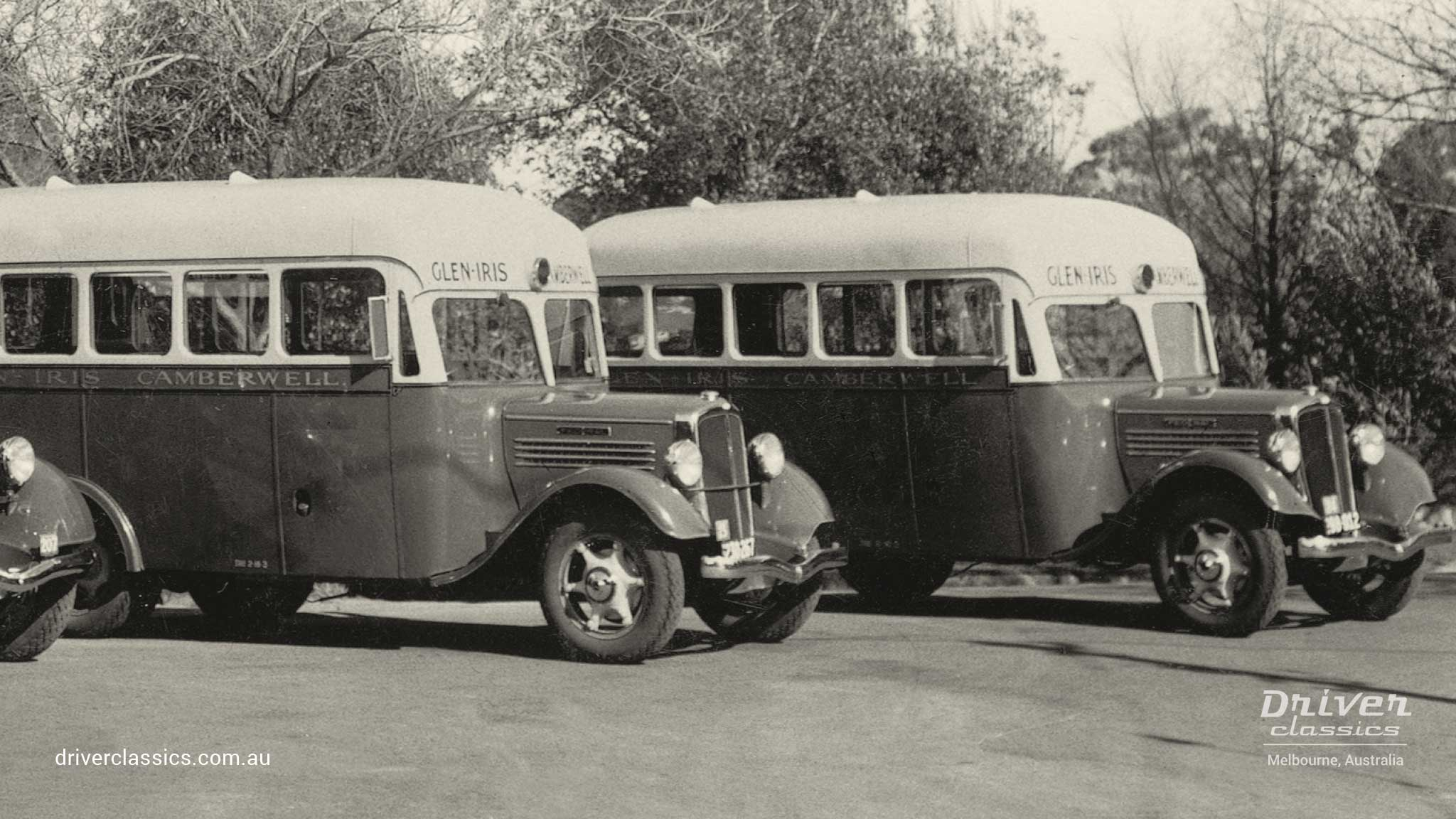 Federal Buses, each with Grummet 12 passenger body, photo taken 1937