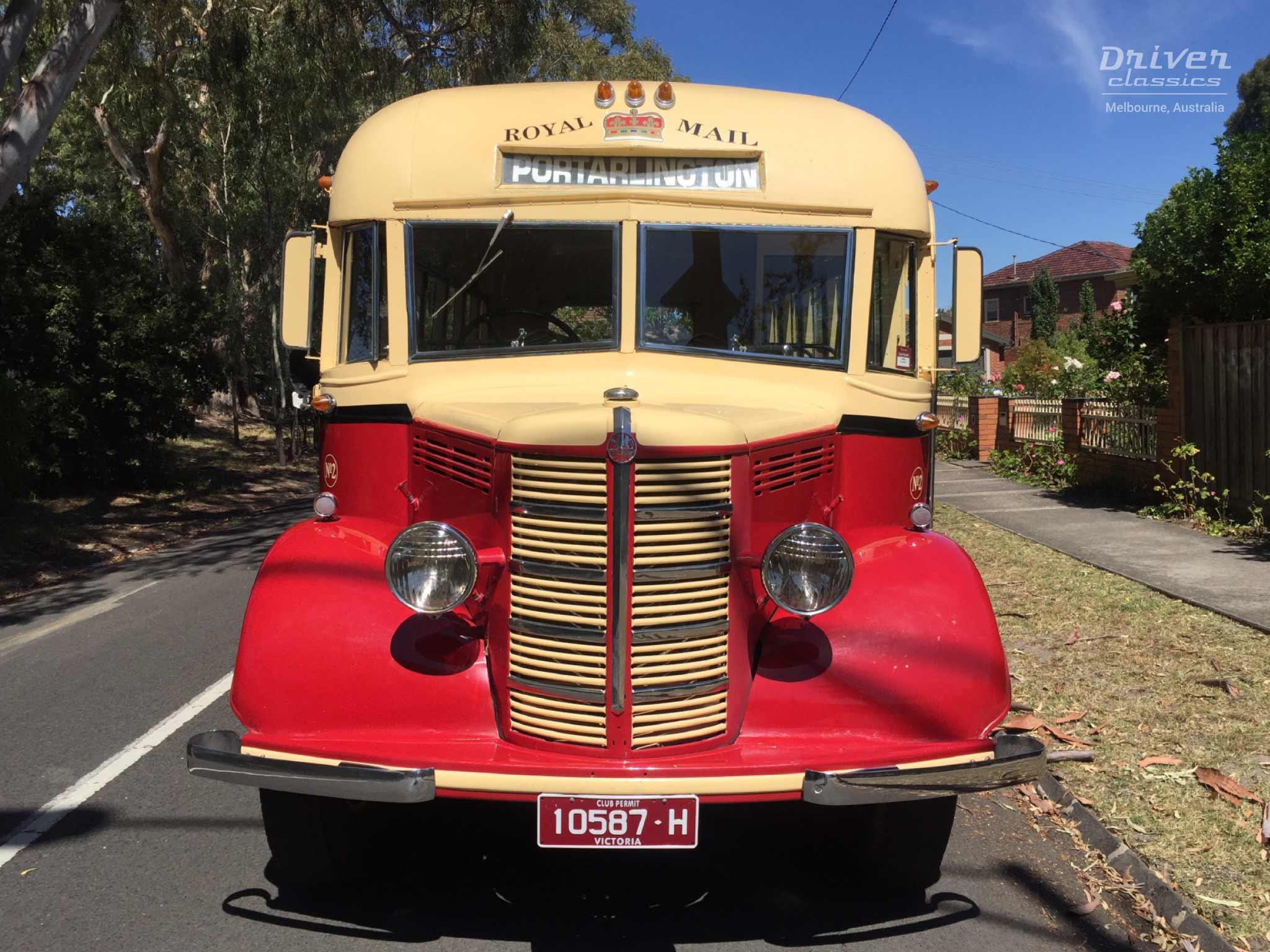 Bedford OB bus, 1946 model, front
