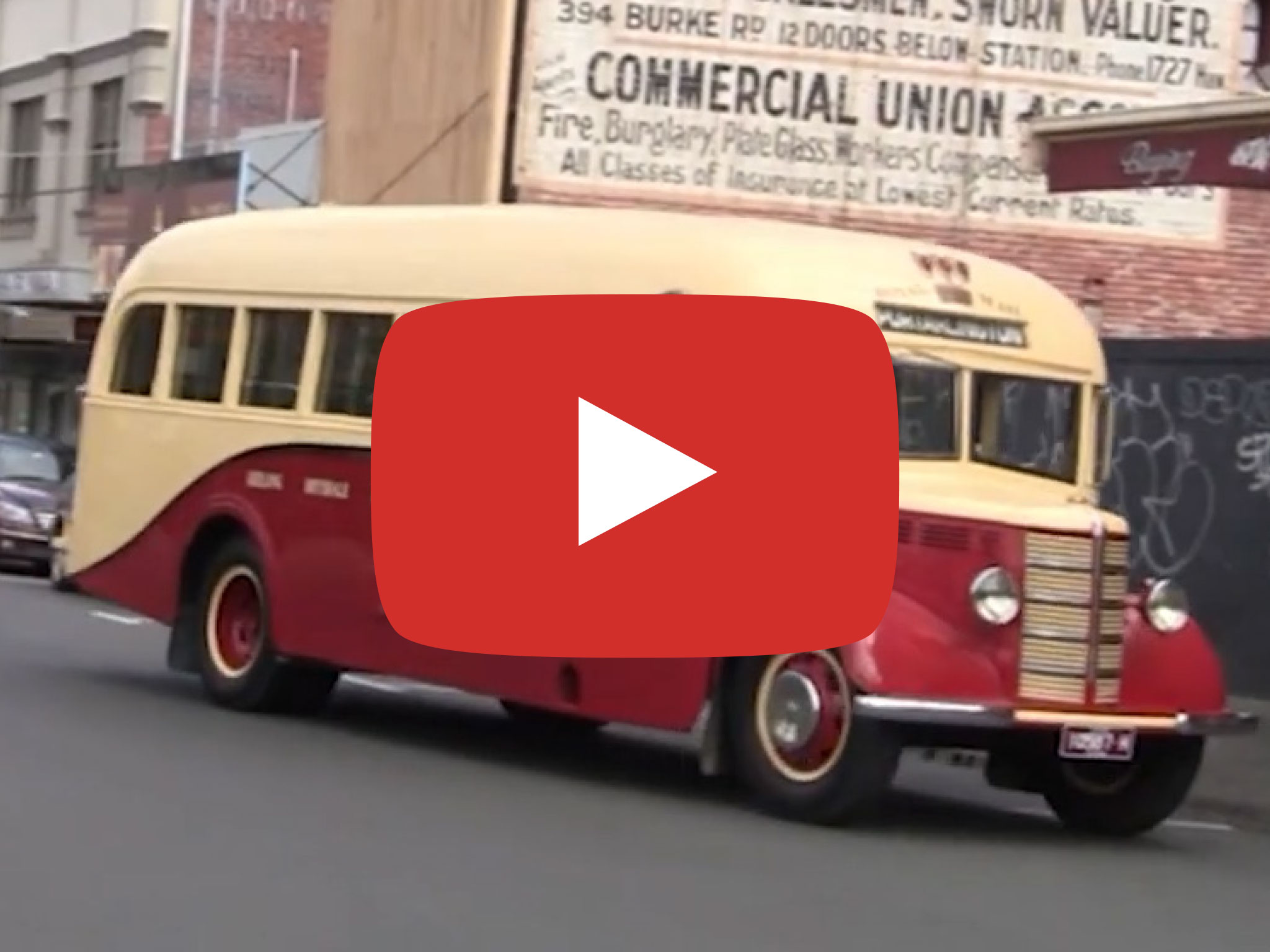 Bedford OB bus with Grice Body, 1946 model. Driving through streets of Cantebury and Camberwell, VIC. Video taken by David Kemp in 2014.