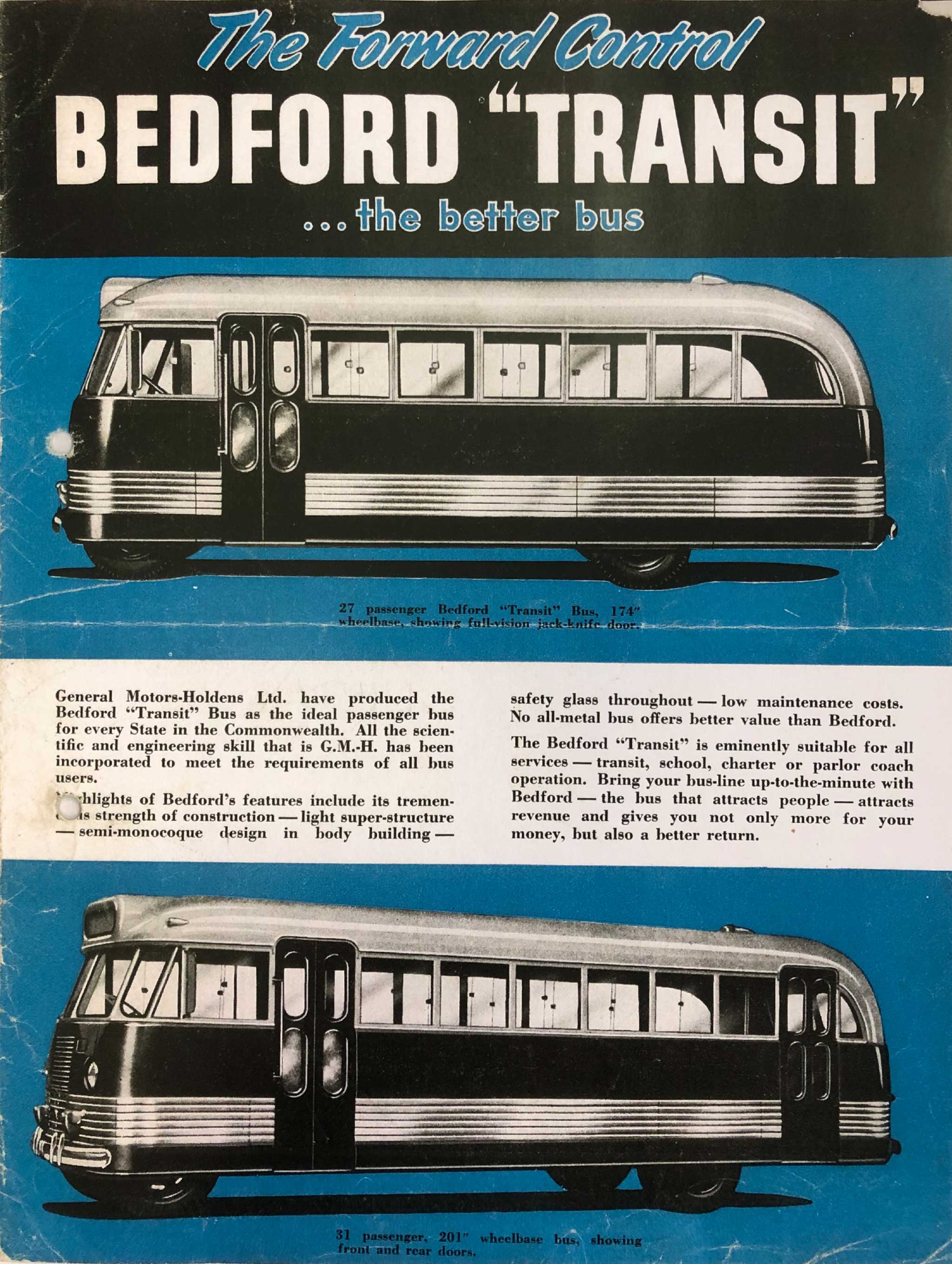 1940s Brochure for GM-H's Bedford OB 'Transit' Bus