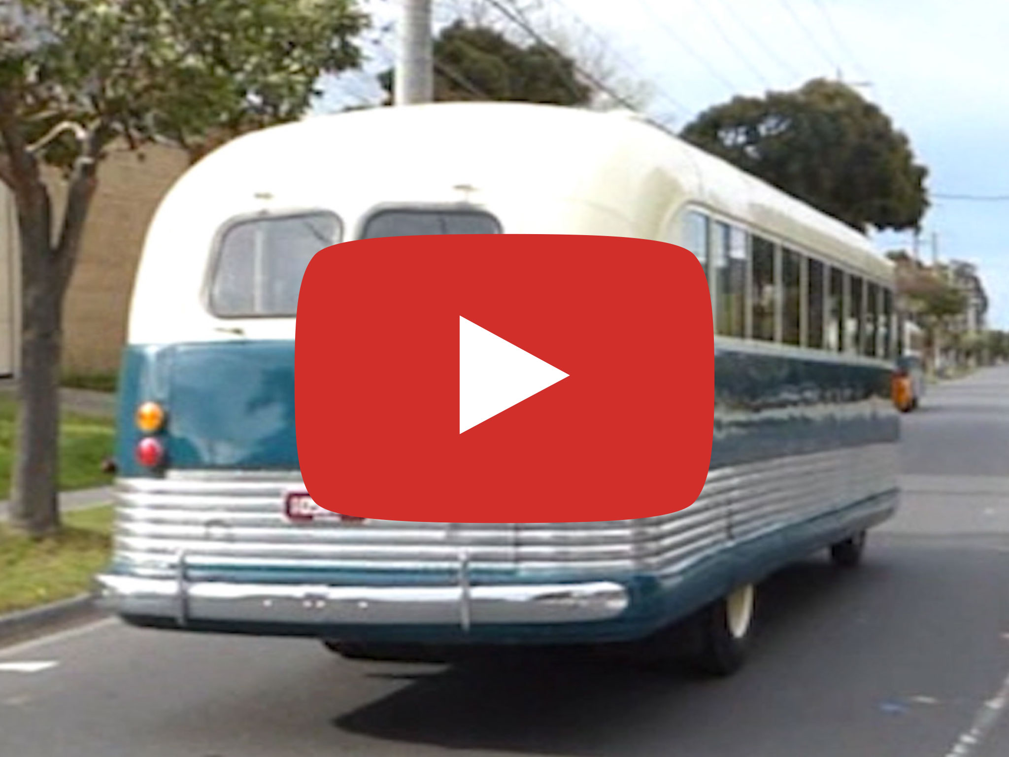 Bedford OB bus (1948 model), Mt Waverley VIC. Video by David Kemp in 2015
