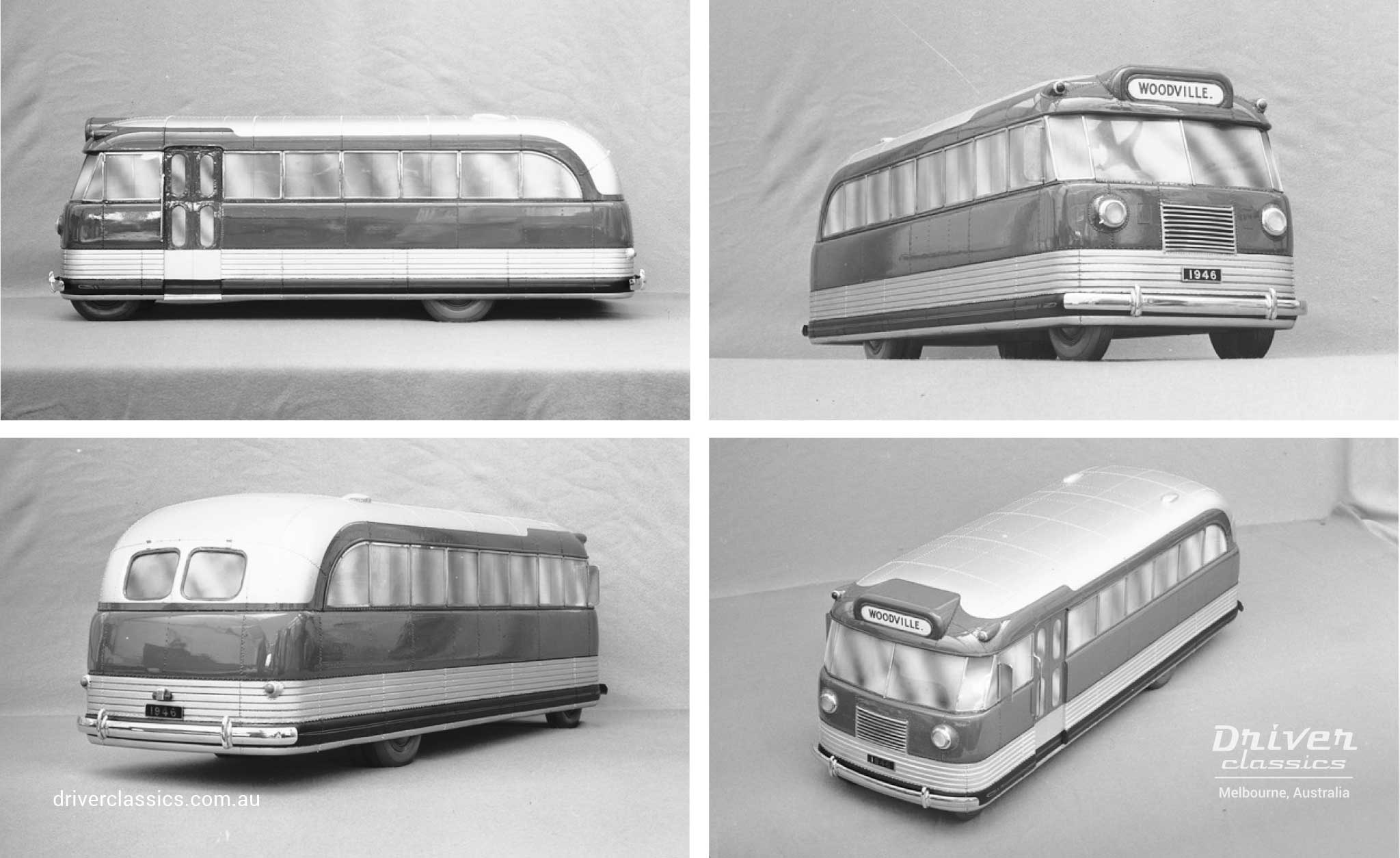 Bedford OB bus scale model built in 1946 by General Motors