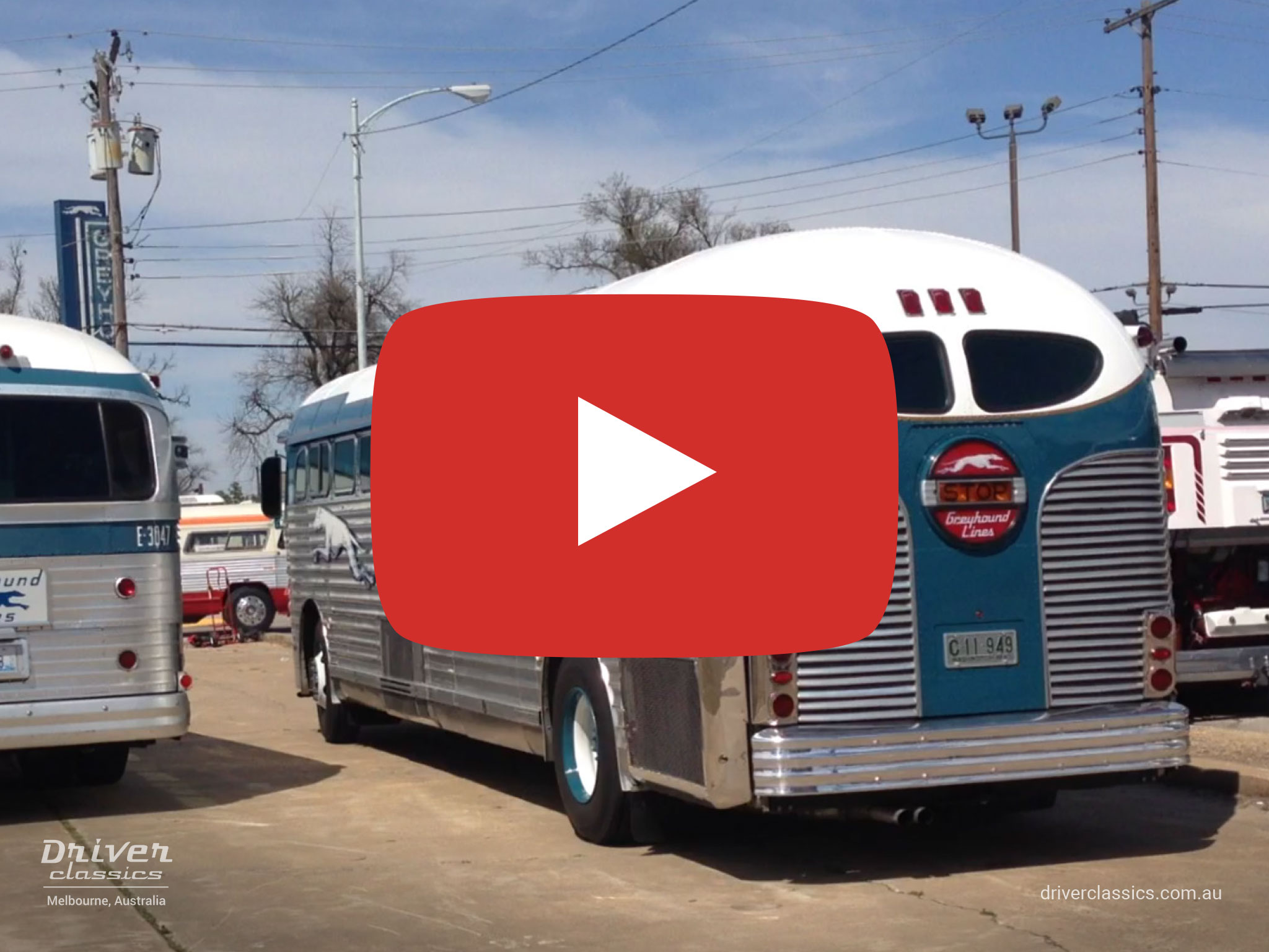 GM PD 3751 Silversides bus , 1947 model, and other classic buses, Blytheville AR, USA April 2013