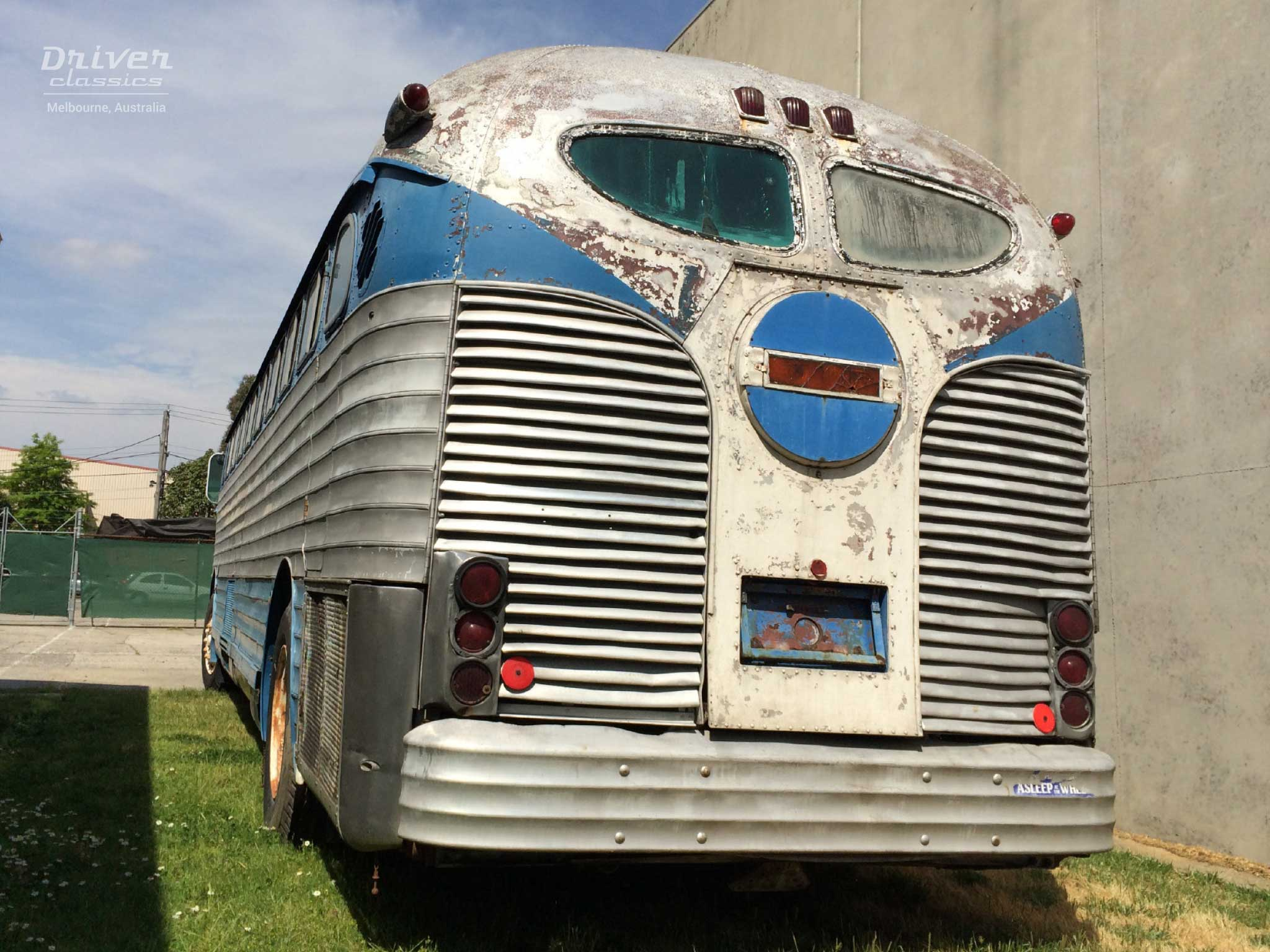 1947 GM PD4151 Silversides bus back