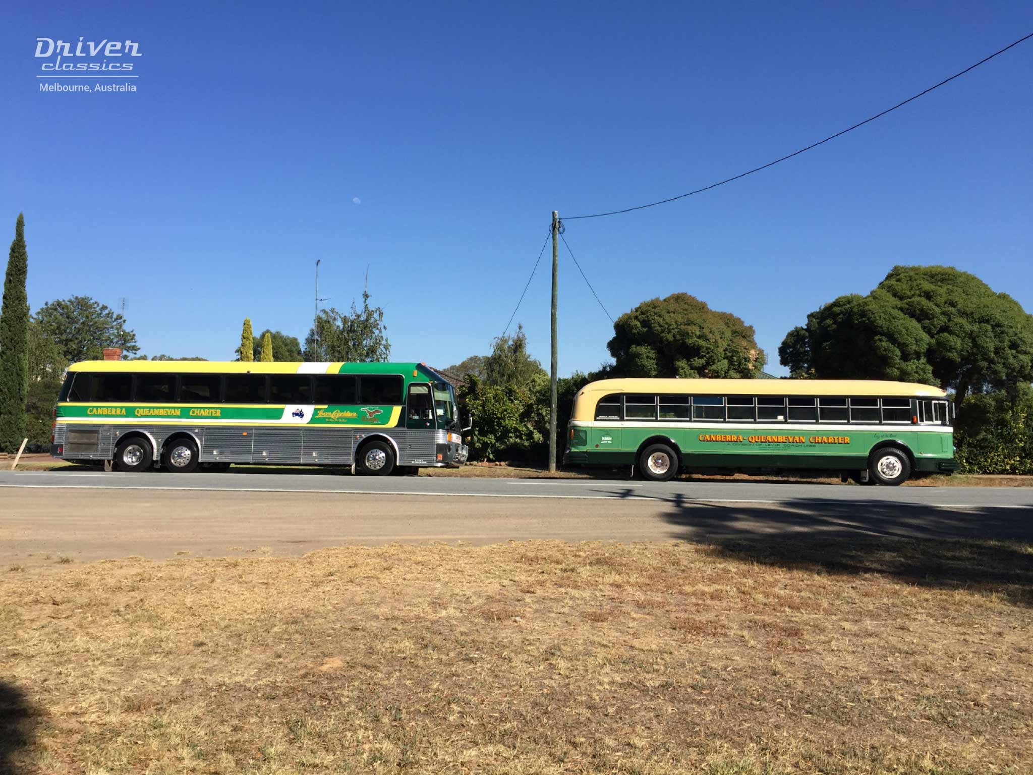 1989 Eagle 20 bus and 1948 White 798-12 bus, Murchison Victoria