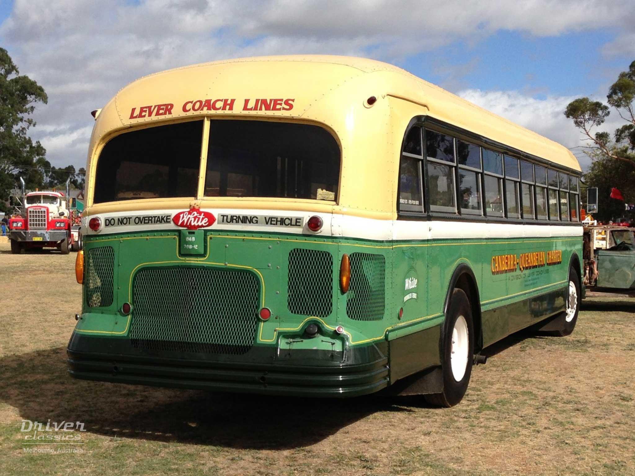 White 798-12 bus, 1948 model, back
