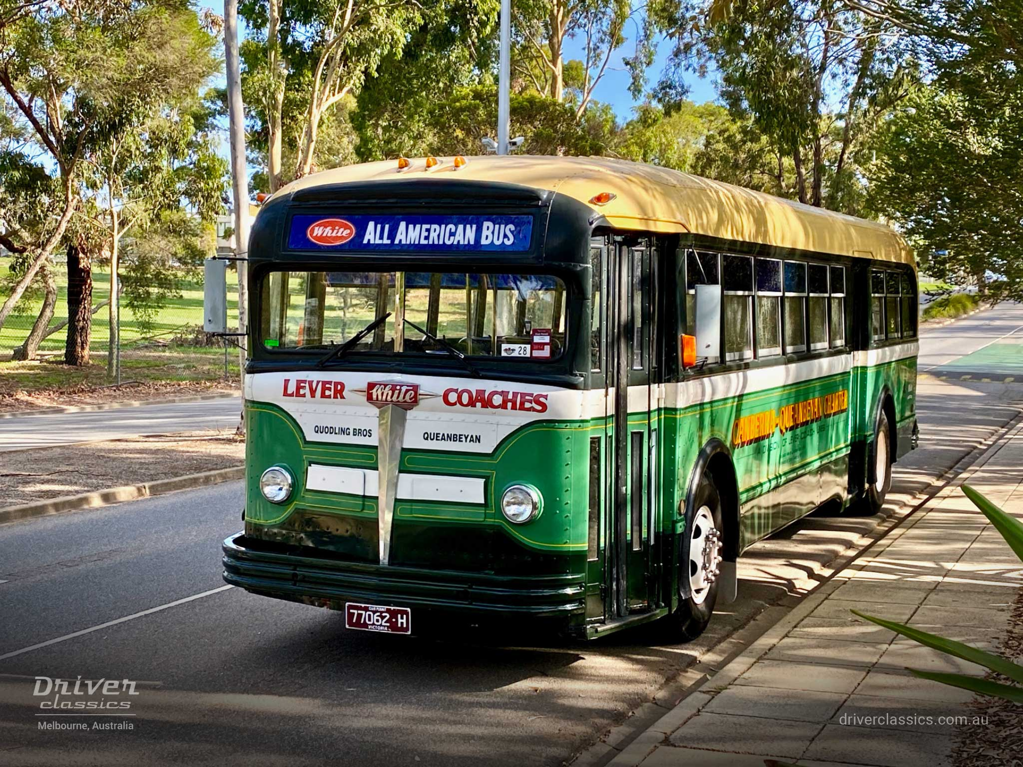 1948 White 798-12 bus, Front and Side (door side), Jells Park VIC, Photo Taken January 2020