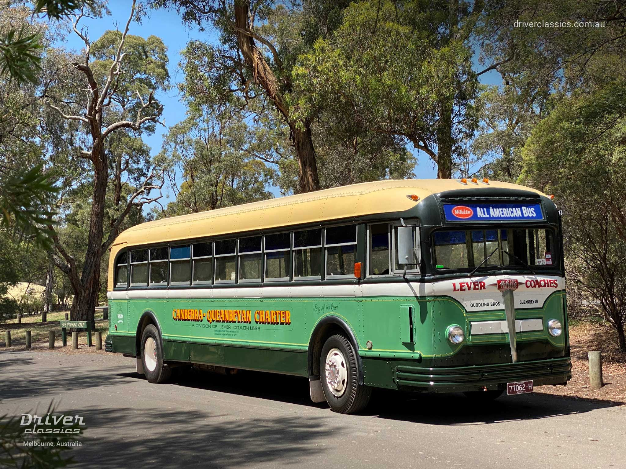 1948 White 798-12 bus, Front and Side, Jells Park VIC, Photo Taken January 2020