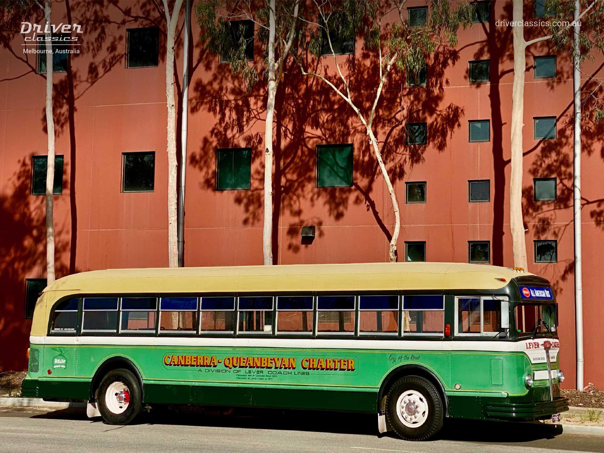 1948 White 798-12 bus, Side Profile (road side), Clayton VIC, Photo Taken January 2020