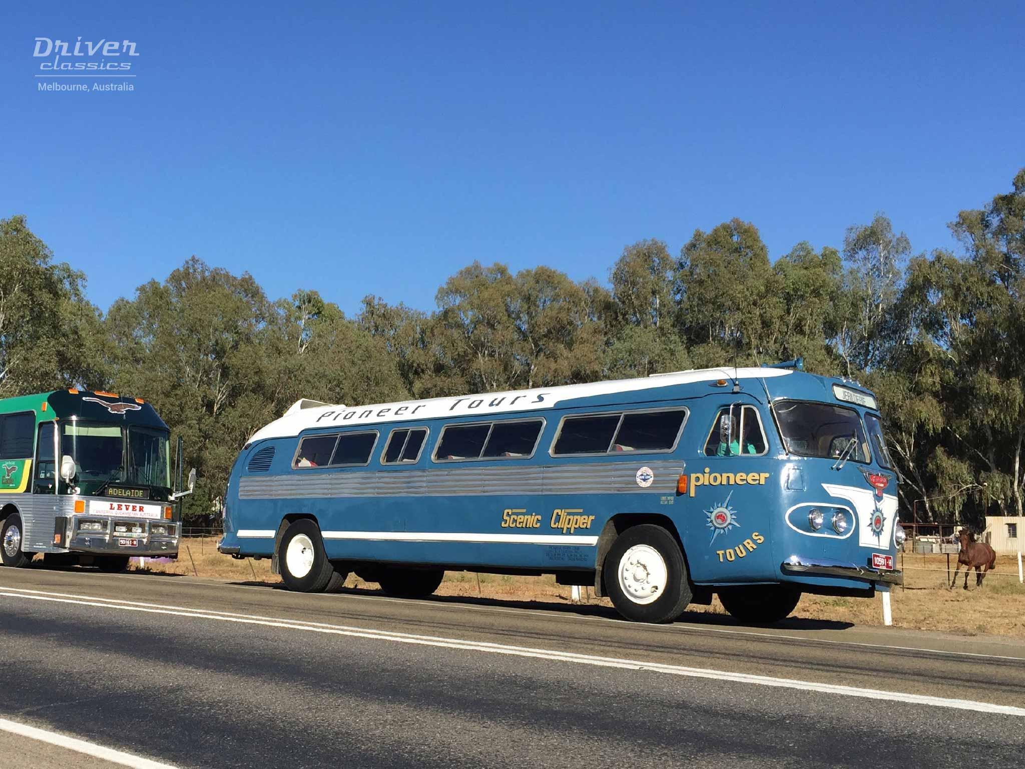 1954 Flxible Clipper bus at Wangaratta.