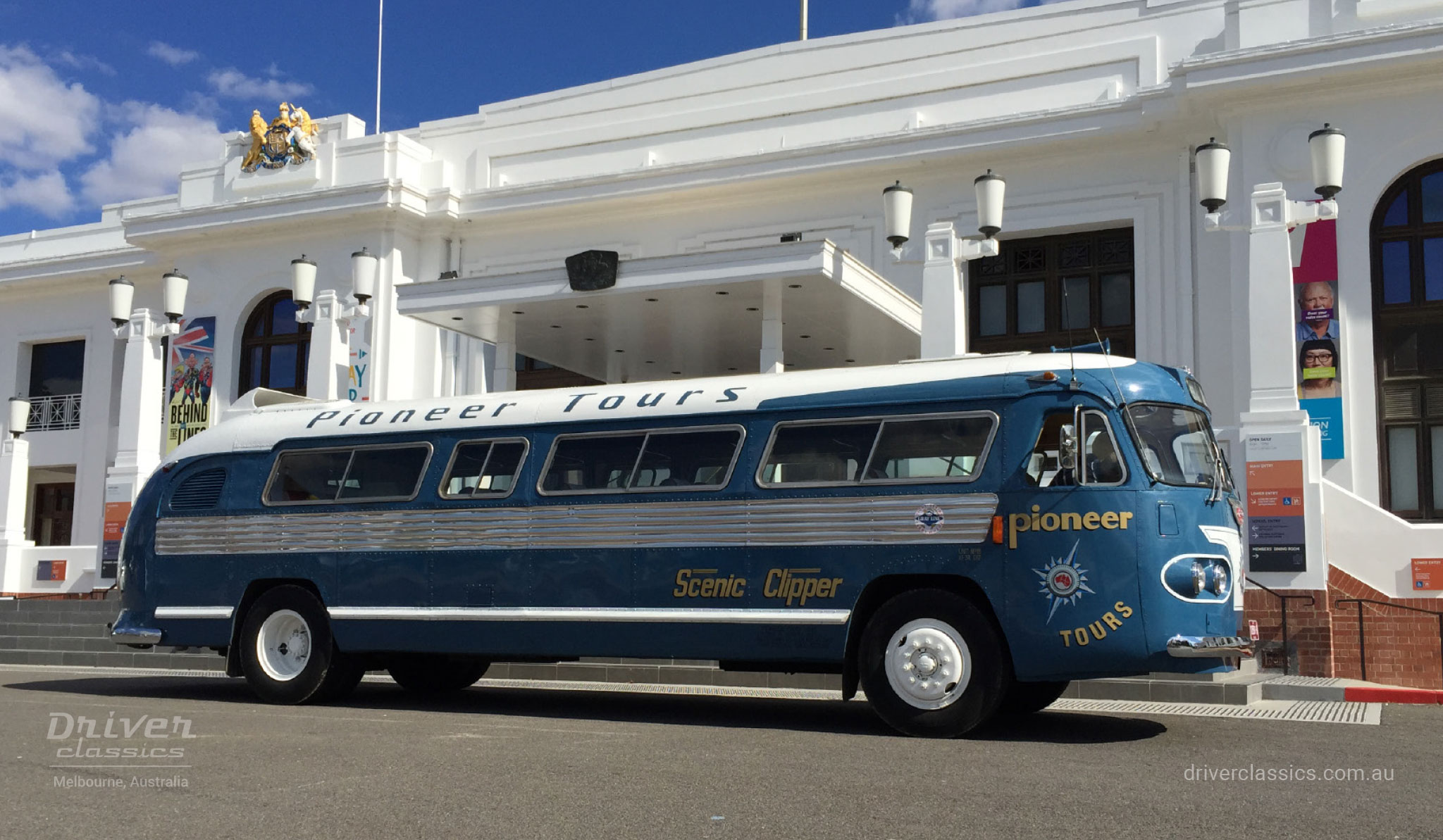 1954 Flxible Clipper bus at Old Parliament House