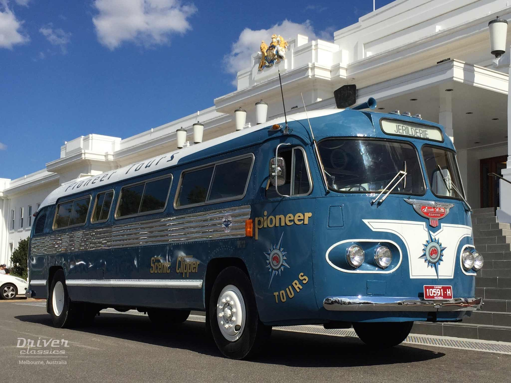 Flxible Clipper bus (1954 Model) at Old Parliament House in Canberra
