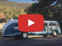 Flxible Clipper, 1954 version, at Halls Gap VIC, March 2018, Video 2