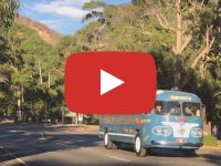 Flxible Clipper, 1954 version, at Halls Gap VIC, March 2018, Video