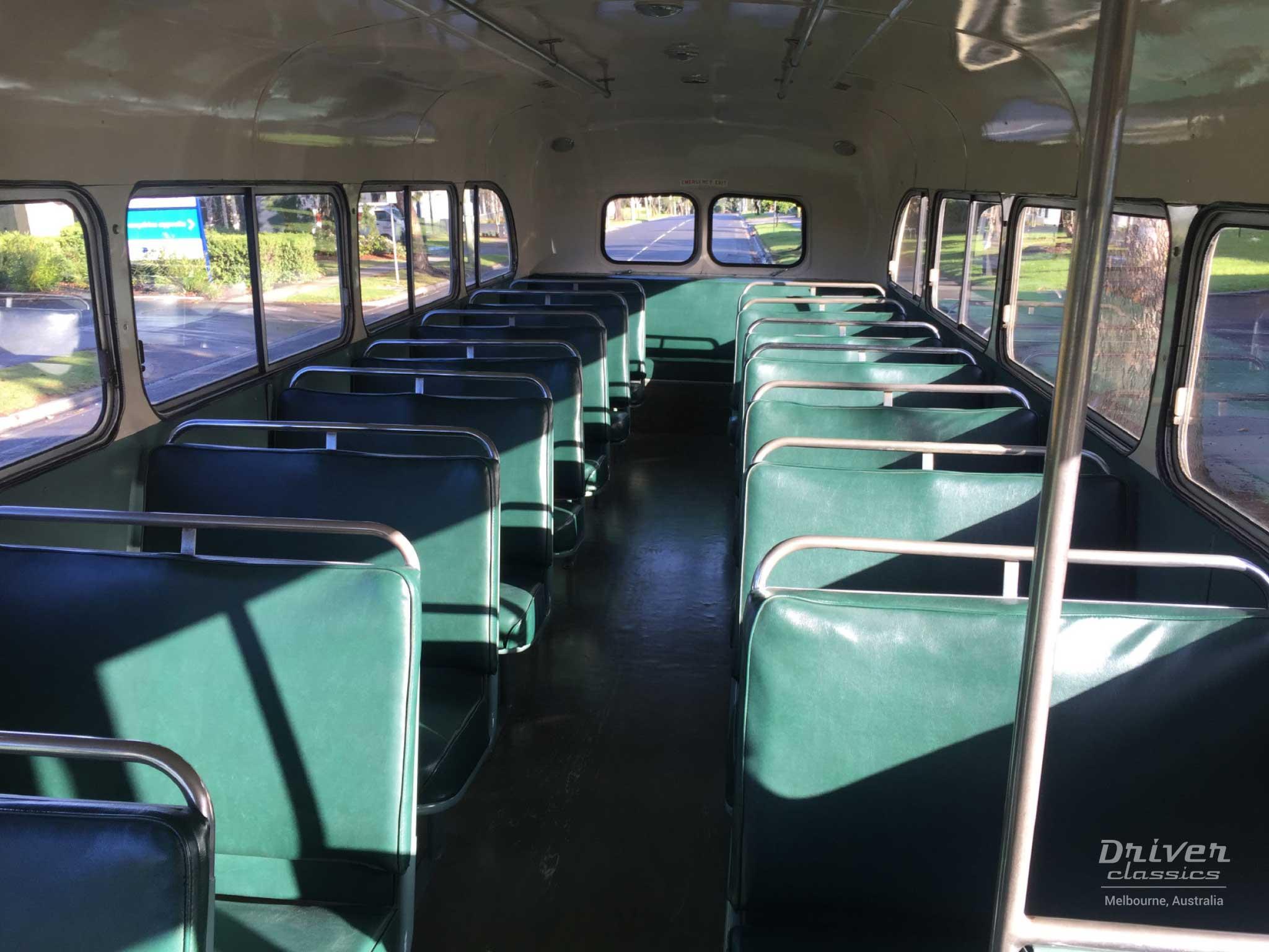 1959 Bedford SB3 bus interior