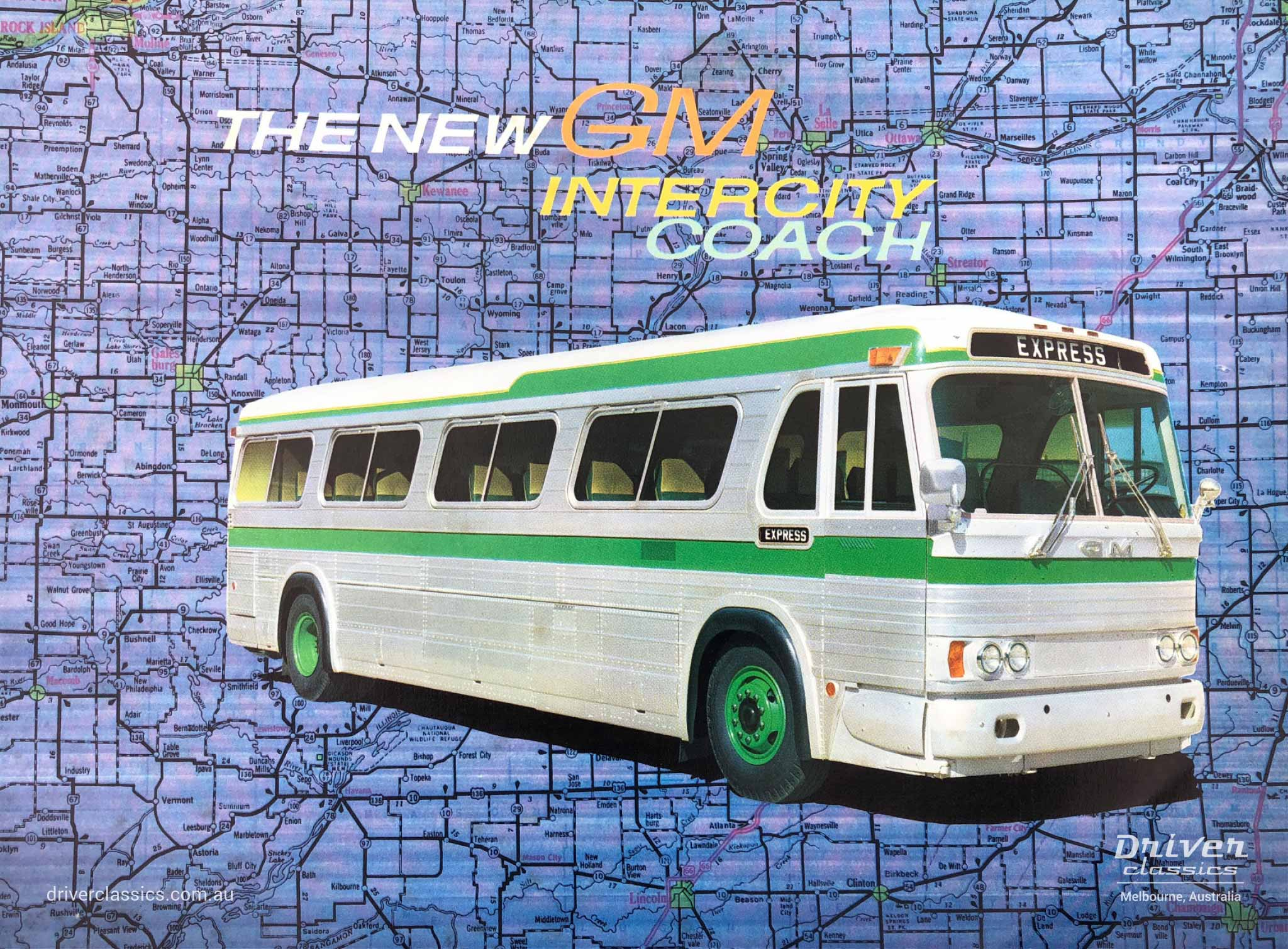 Early 1960s GM PD-4106 bus brochure cover
