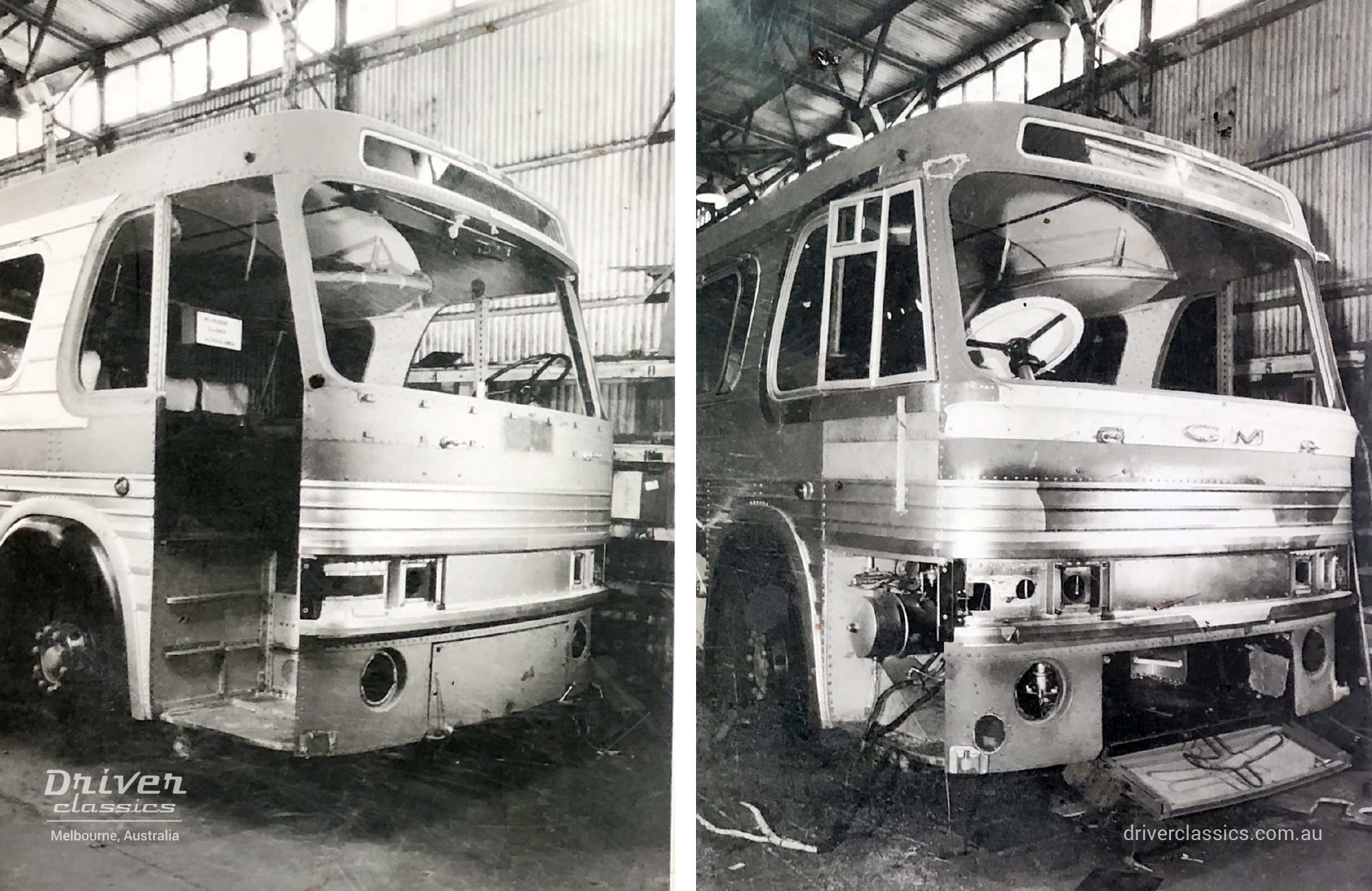 General Motors PD-4106 bus, conversion to right hand drive (RHD) by Ansair in Melbourne, VIC Australia, early 1960s
