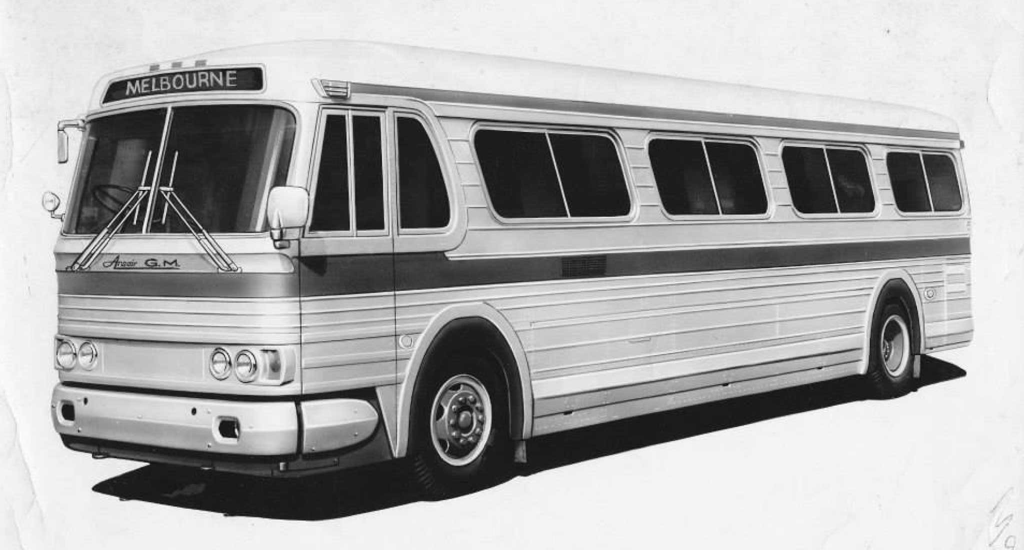 Illustration of the Ansair-GM bus, a potential Australian produced version of the GM PD-4106