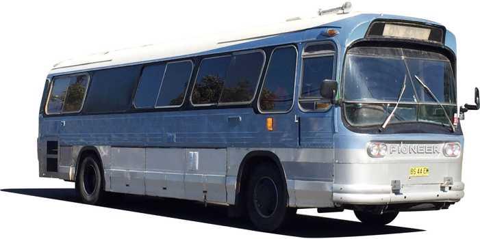 Ansair Scenicruiser bus, 1967 model, GMC