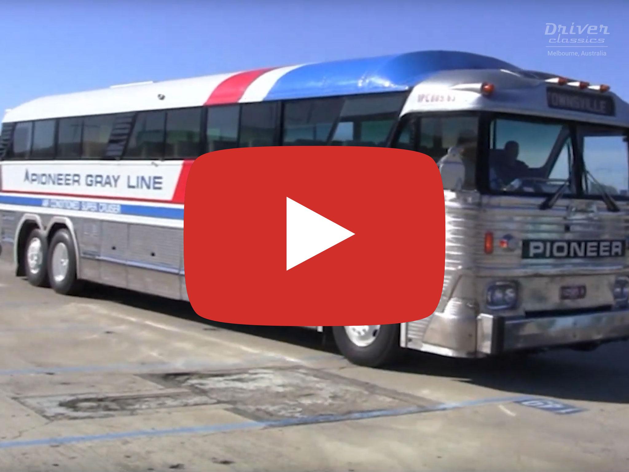 MCI MC7 bus 1972 Model, Melbourne VIC. Video by David Kemp in 2016