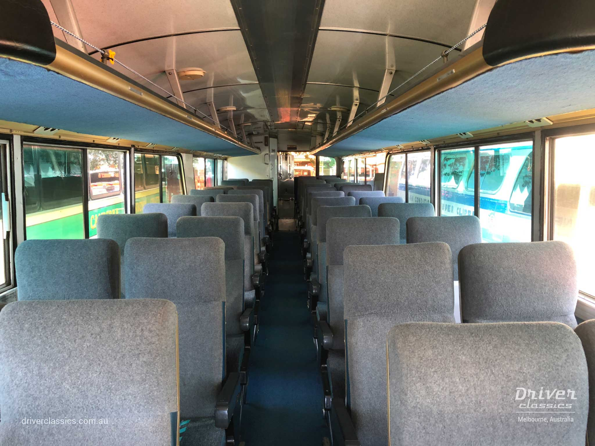MCI MC7 bus interior, 1972 version, Yarra Glen VIC, Photo taken November 2018