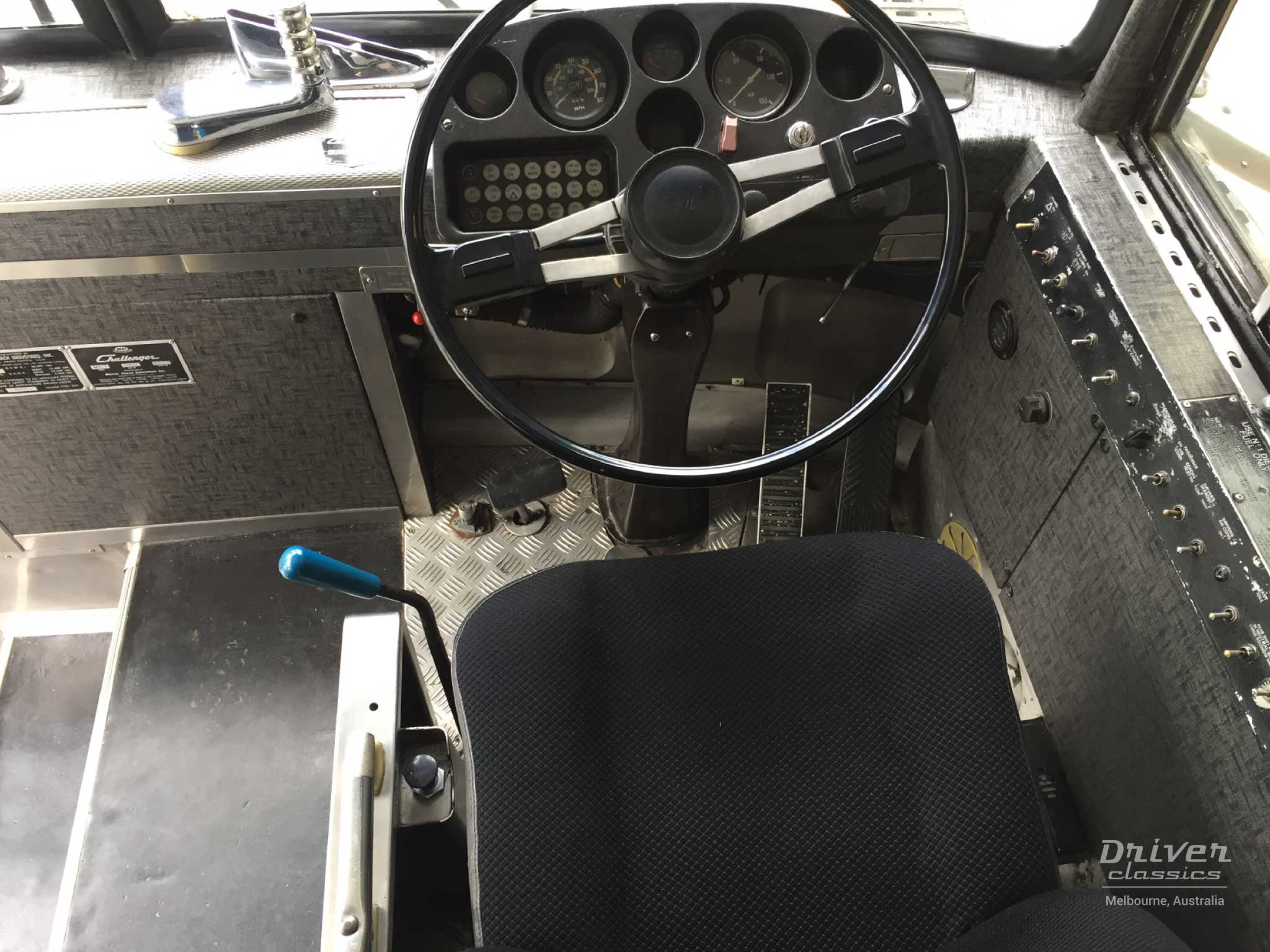MCI MC7 bus dashboard