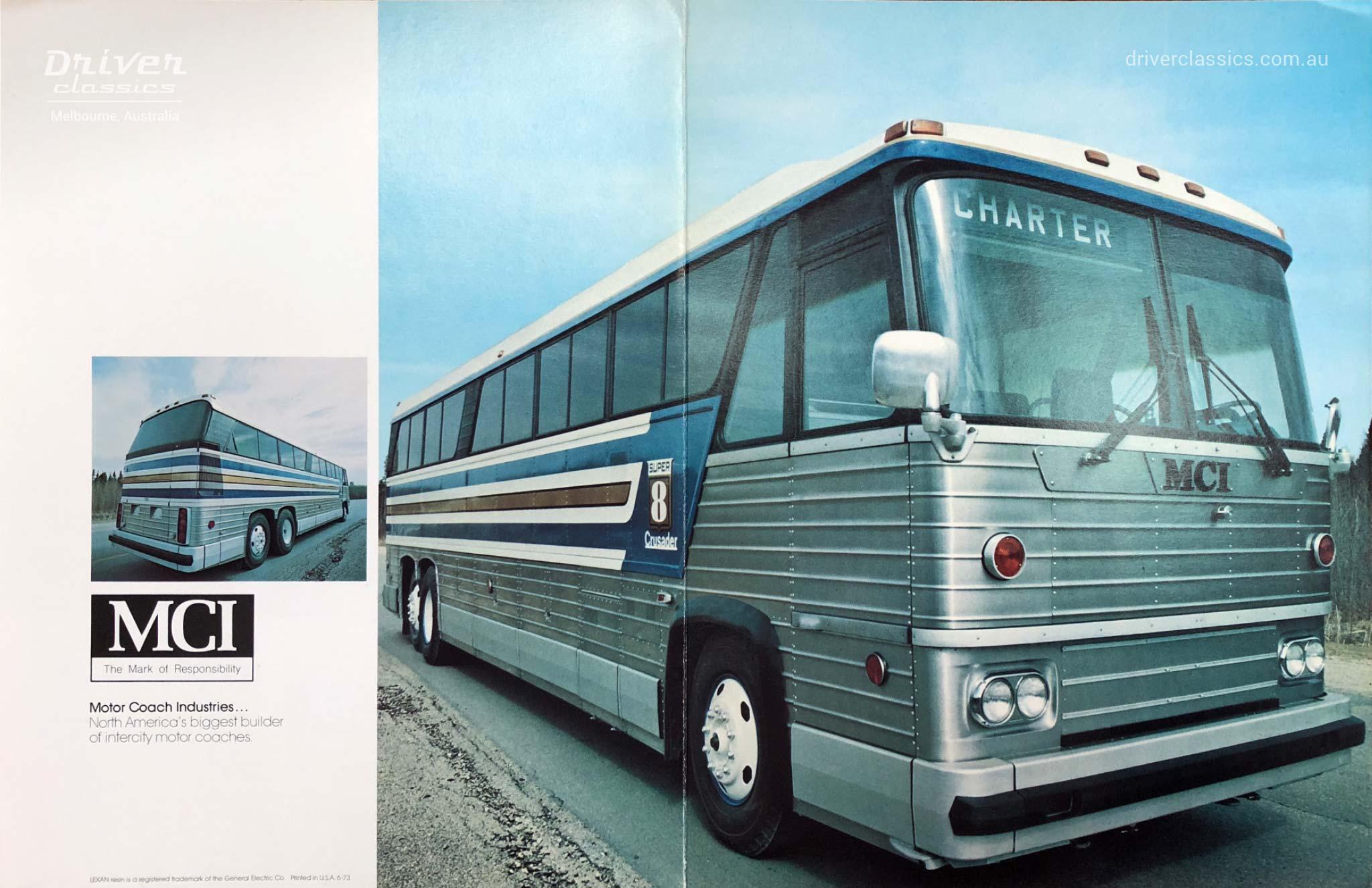 MCI MC8 bus, 1973 version, Brochure Cover