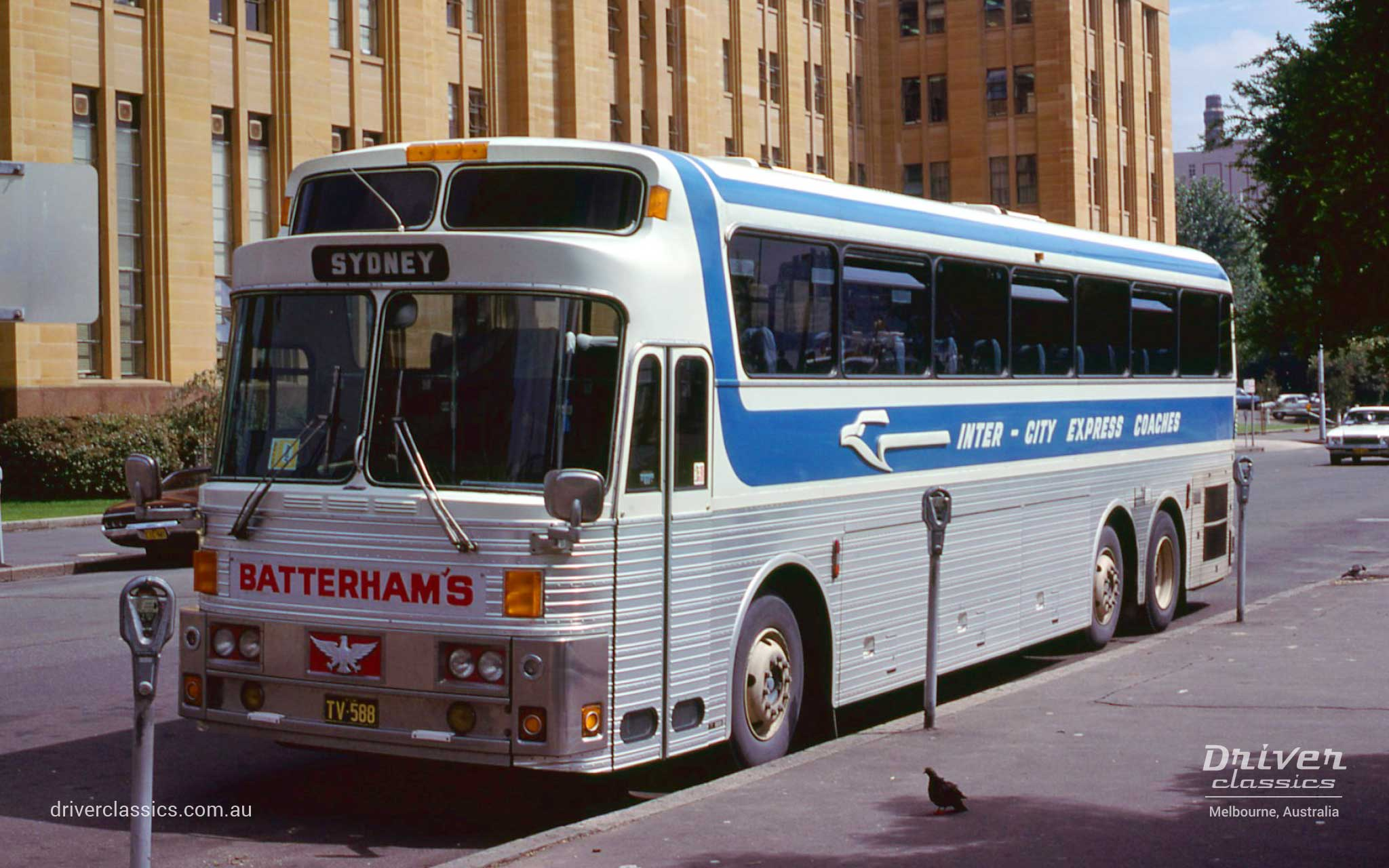 Batterham's 1976 Eagle Model 05 bus, Circular Quay, Sydney NSW, Photo taken February 1980