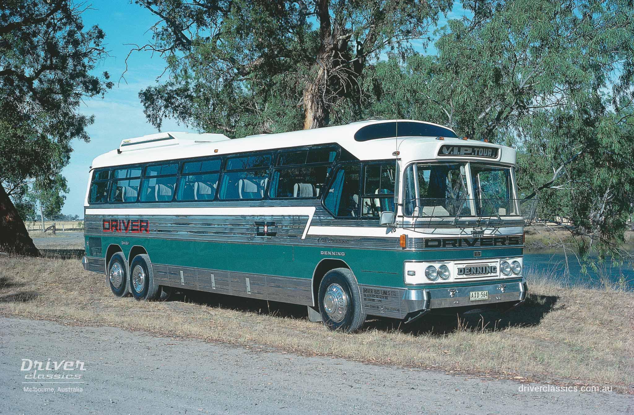 GM Denning Denair bus (1980 version), Katamatite, Victoria, 1981