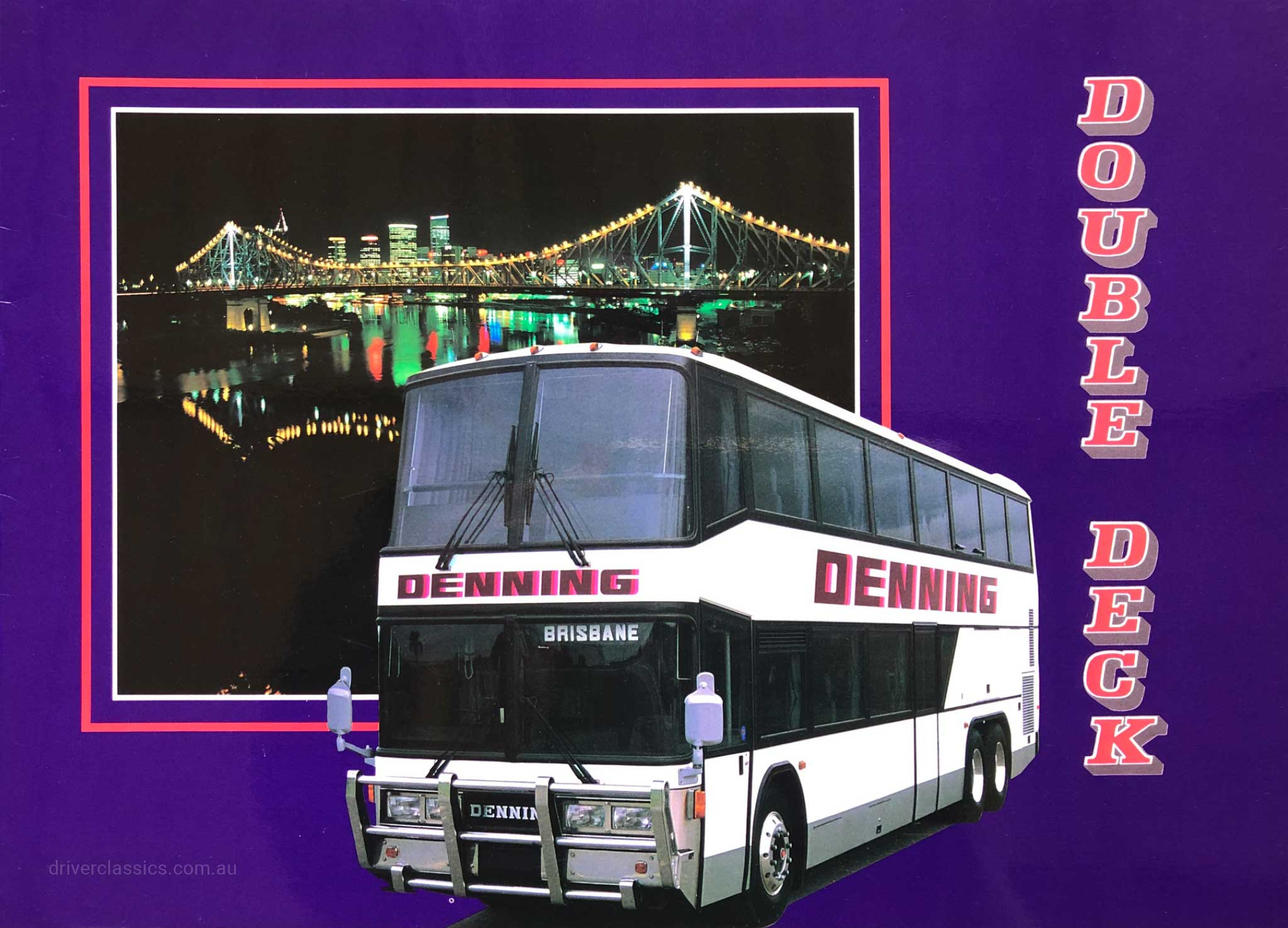 Denning Double Deck bus brochure cover