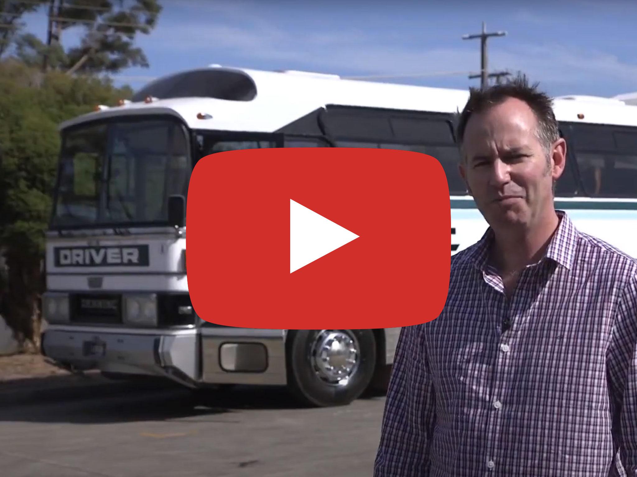 Denning DenAir Mono Bus, 1983 version, Review by Australian Bus and Coach at Hastings Vic, Video originally published May 2019.