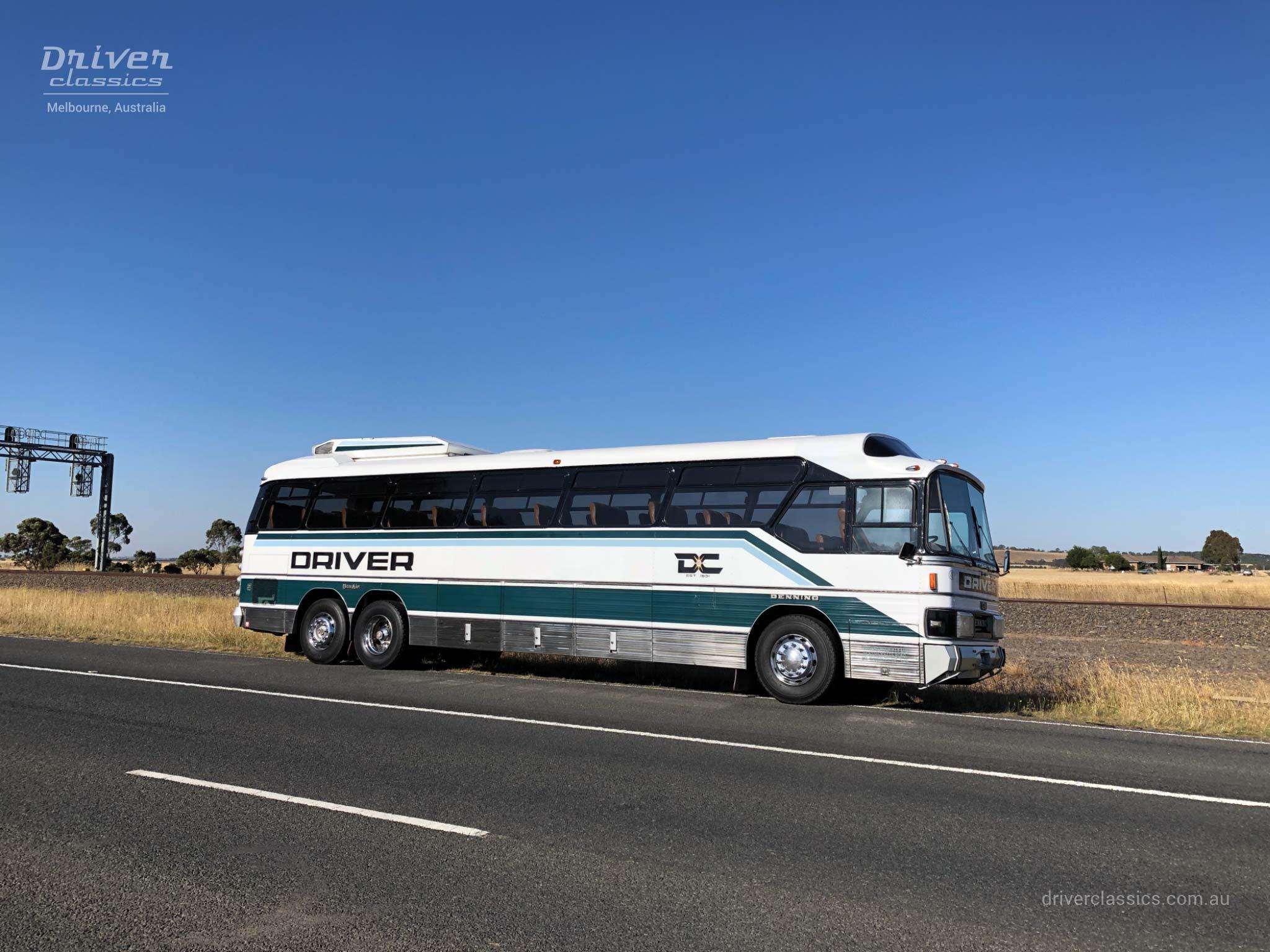 GM Denning DenAir Mono Bus, 1983 version, beside train line near Romsey VIC. Photo taken February 2019.