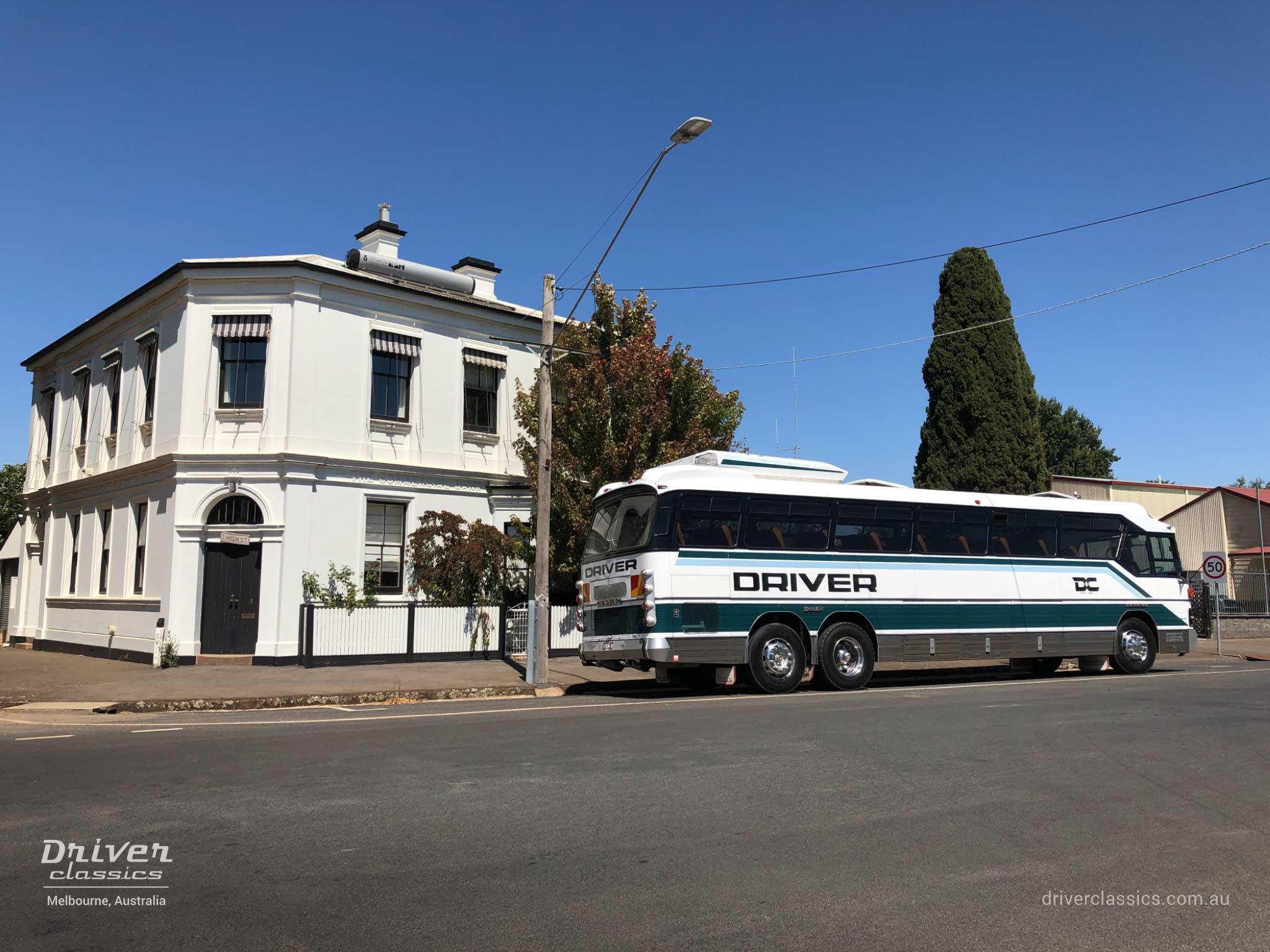 GM Denning DenAir Mono Bus, 1983 version, side and back, Photo taken February 2019