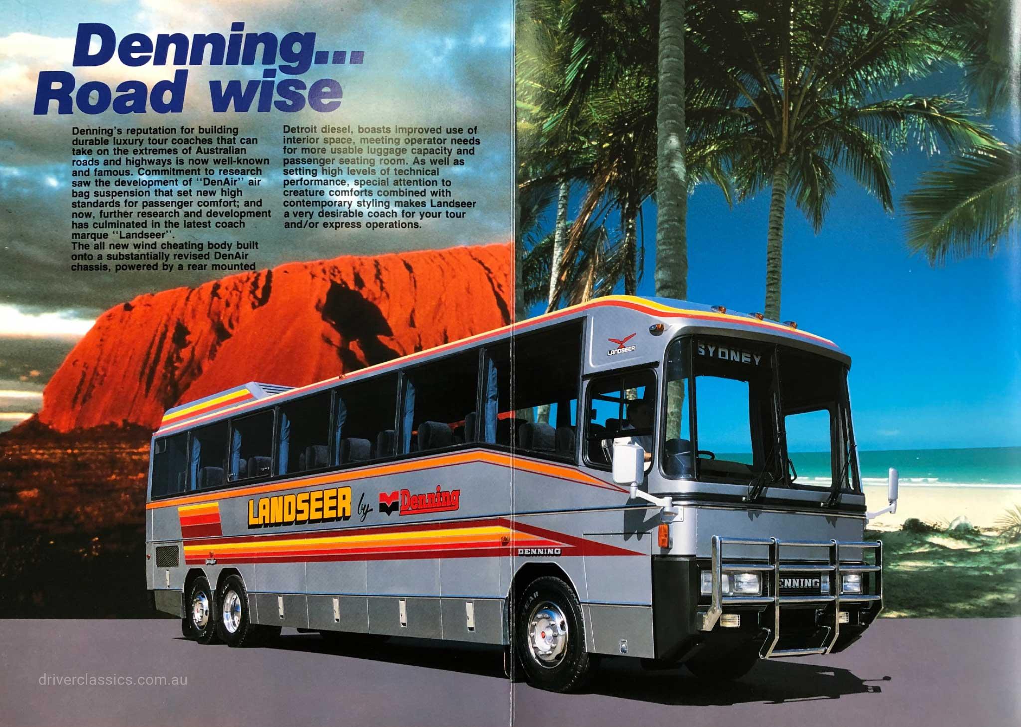 1985 Denning Landseer bus brochure inside page