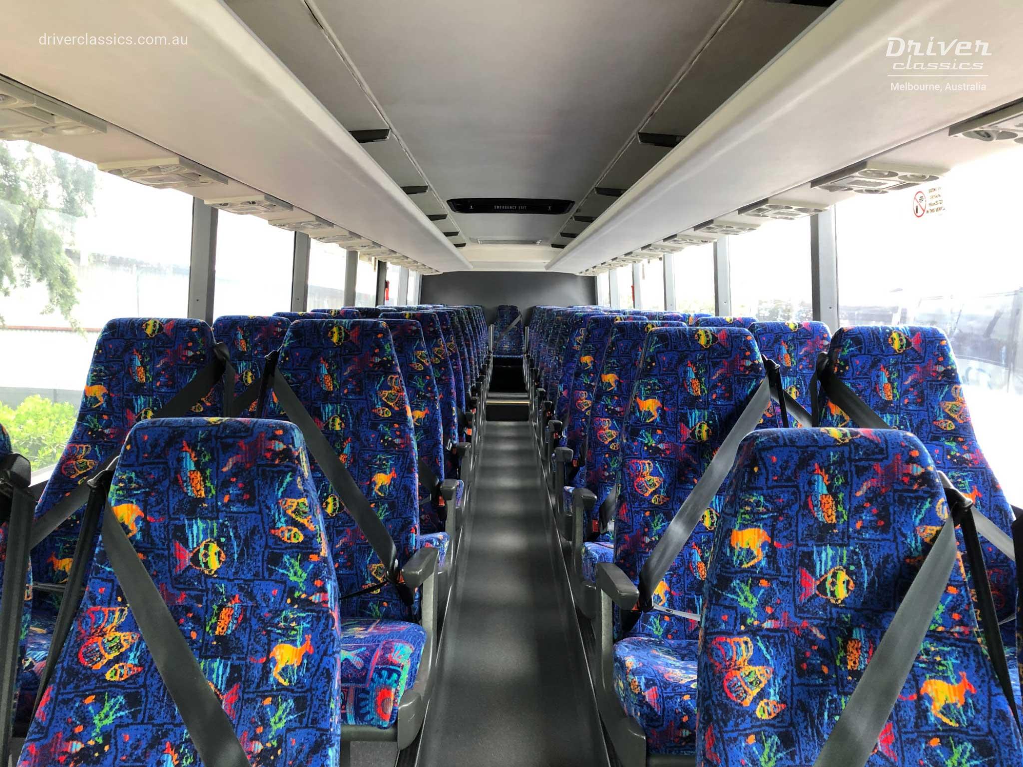 Denning Landseer bus, 1988 version, interior, at Mount Waverley VIC, Photo taken November 2020