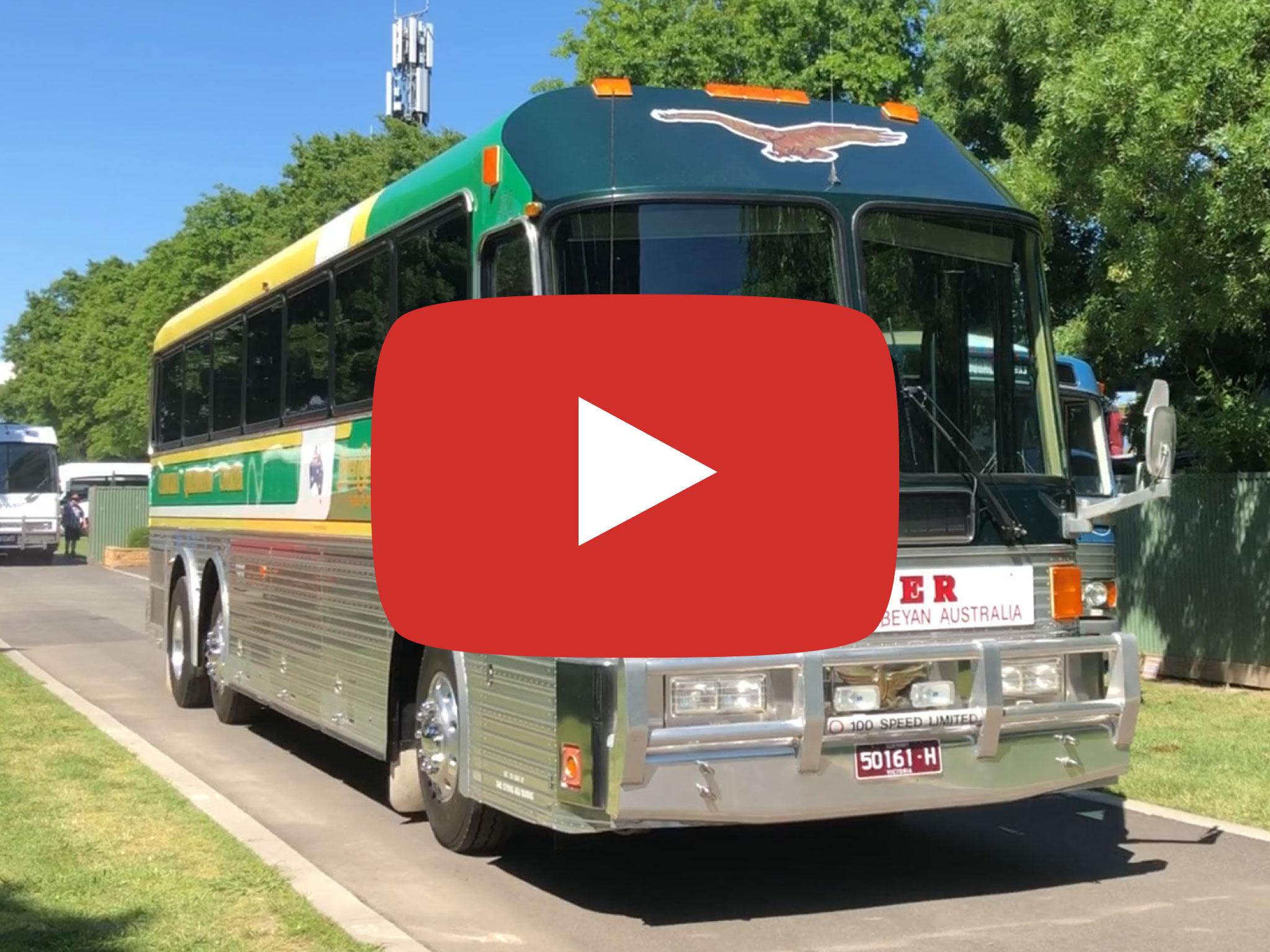 Eagle Model 20 Bus, 1989 version, Yarra Glen, Australia. Video taken November 2018.