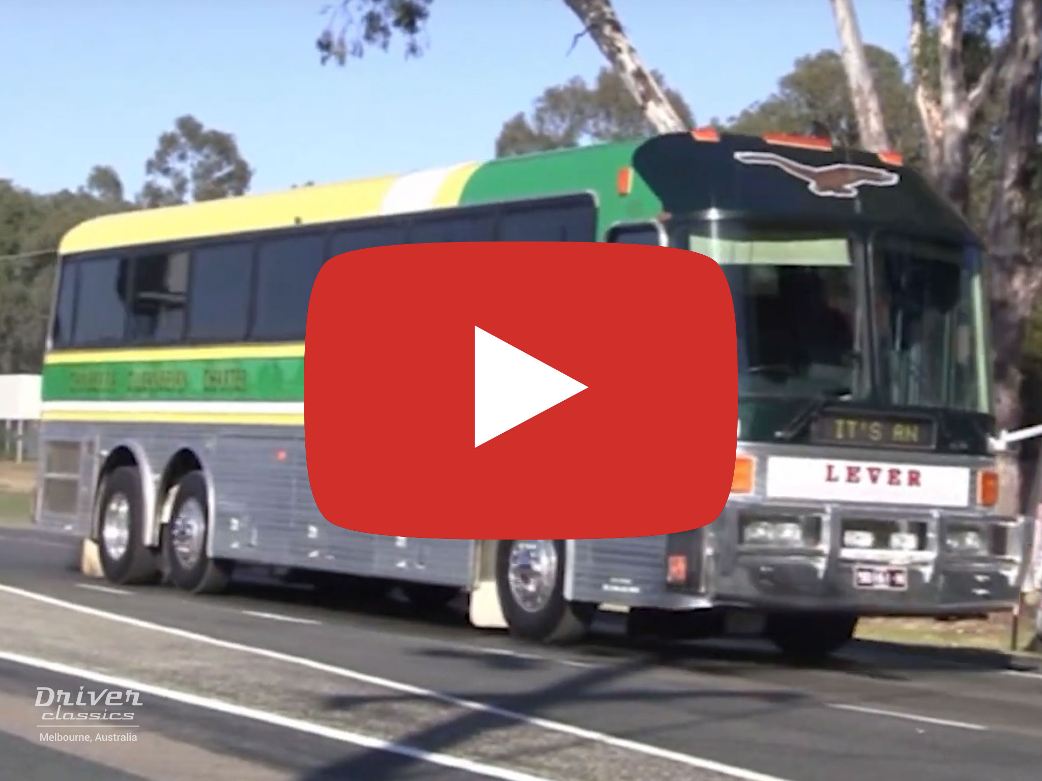 Eagle Model 20 bus, 1989 model, En route to Canberra ACT. Video by David Kemp in 2015
