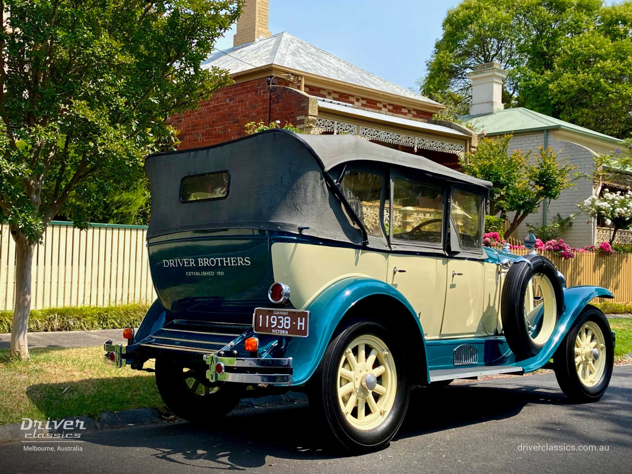 1929 Pontiac 29-6 car, back and side, Camberwell VIC, photo taken December 2019