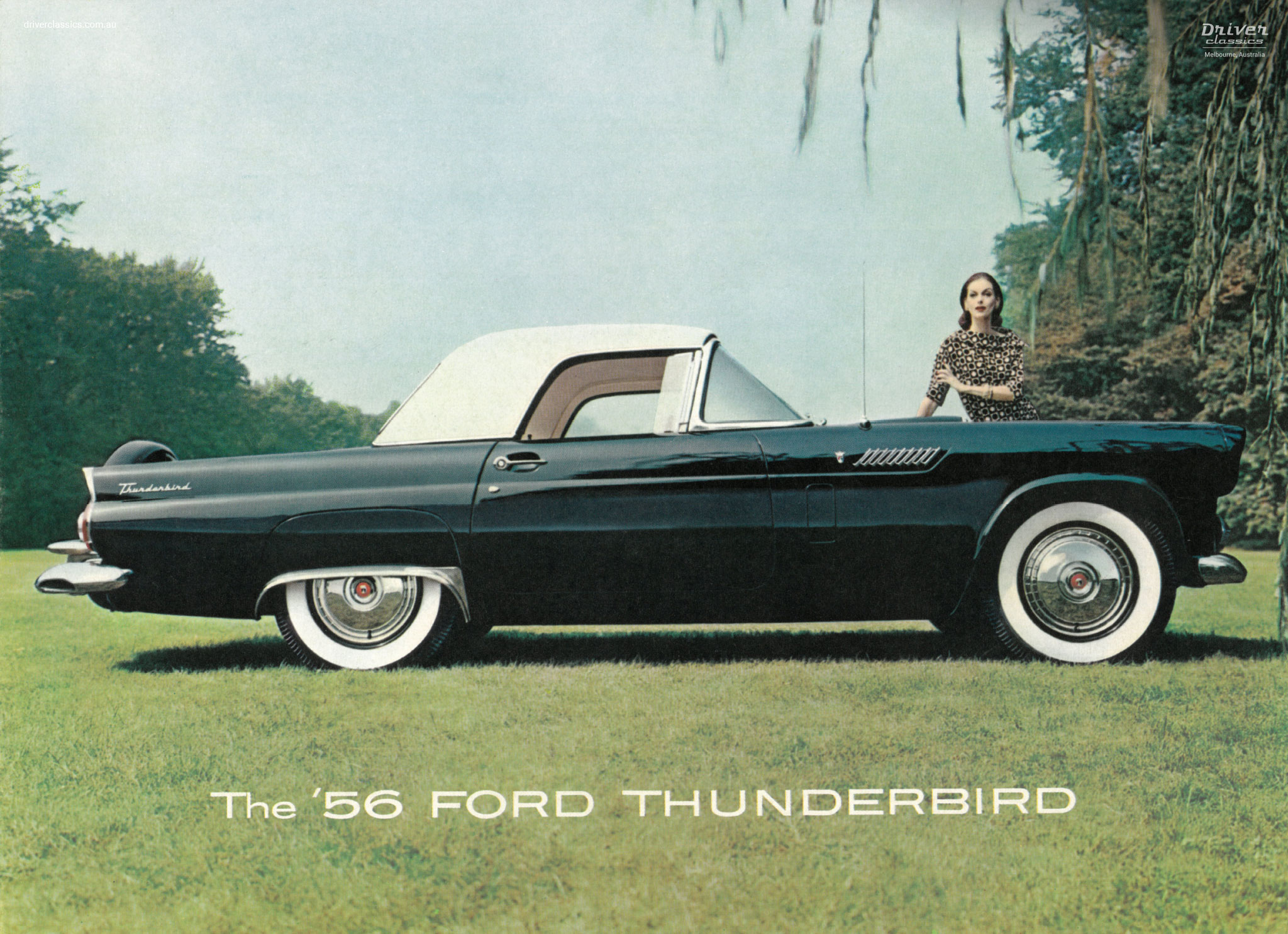 Cover of 1956 Ford Thunderbird brochure