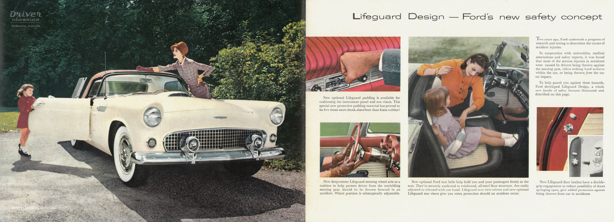 Page from of 1956 Ford Thunderbird brochure