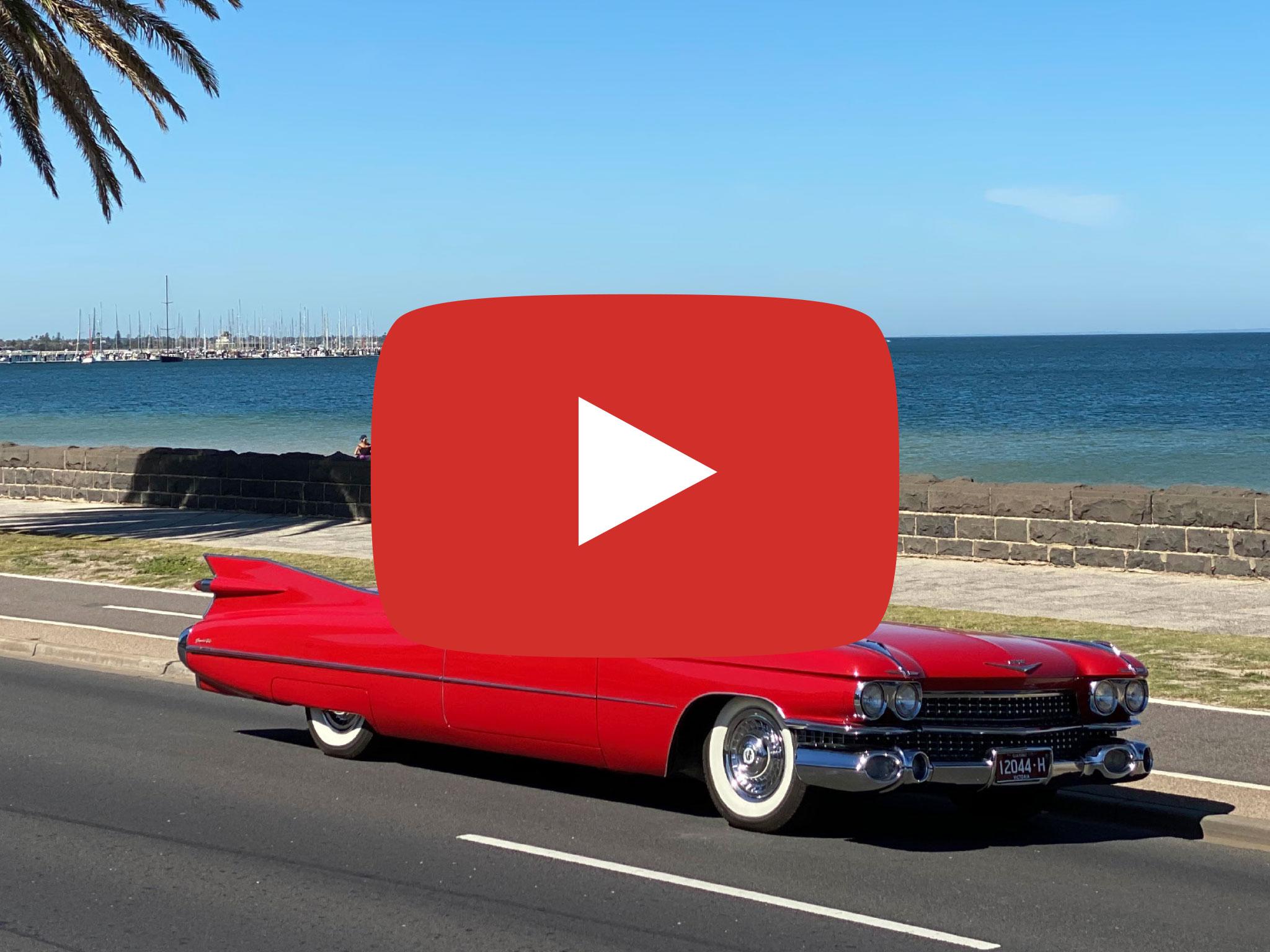 Cadillac Coupe de Ville (1959 Model), at Port Melbourne VIC, Video taken by Ralf Boetker March 2020