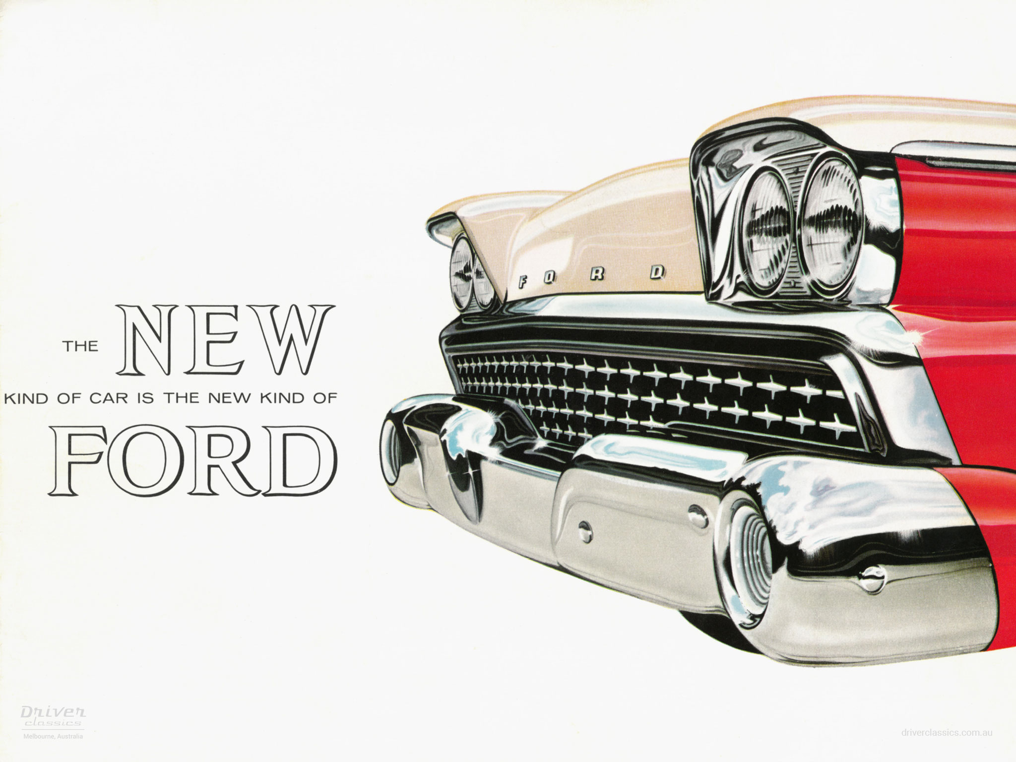 Cover from 1959 Ford Fairlane 500 Brochure.