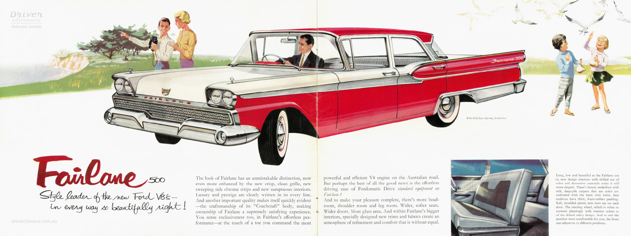 Brochure page of 1960 Ford Fairlane 500