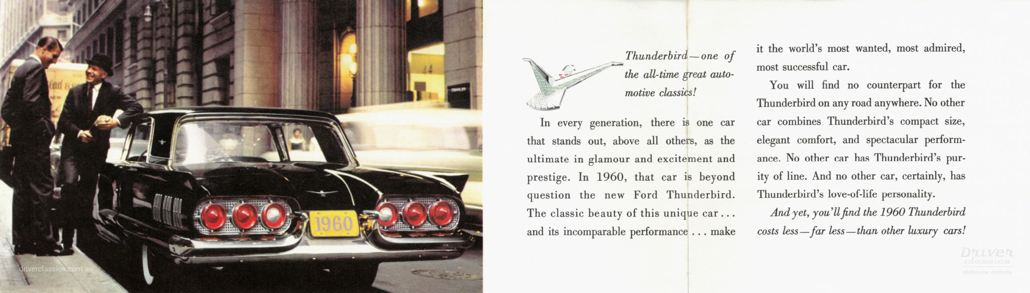 Page from of 1960 Ford Thunderbird brochure