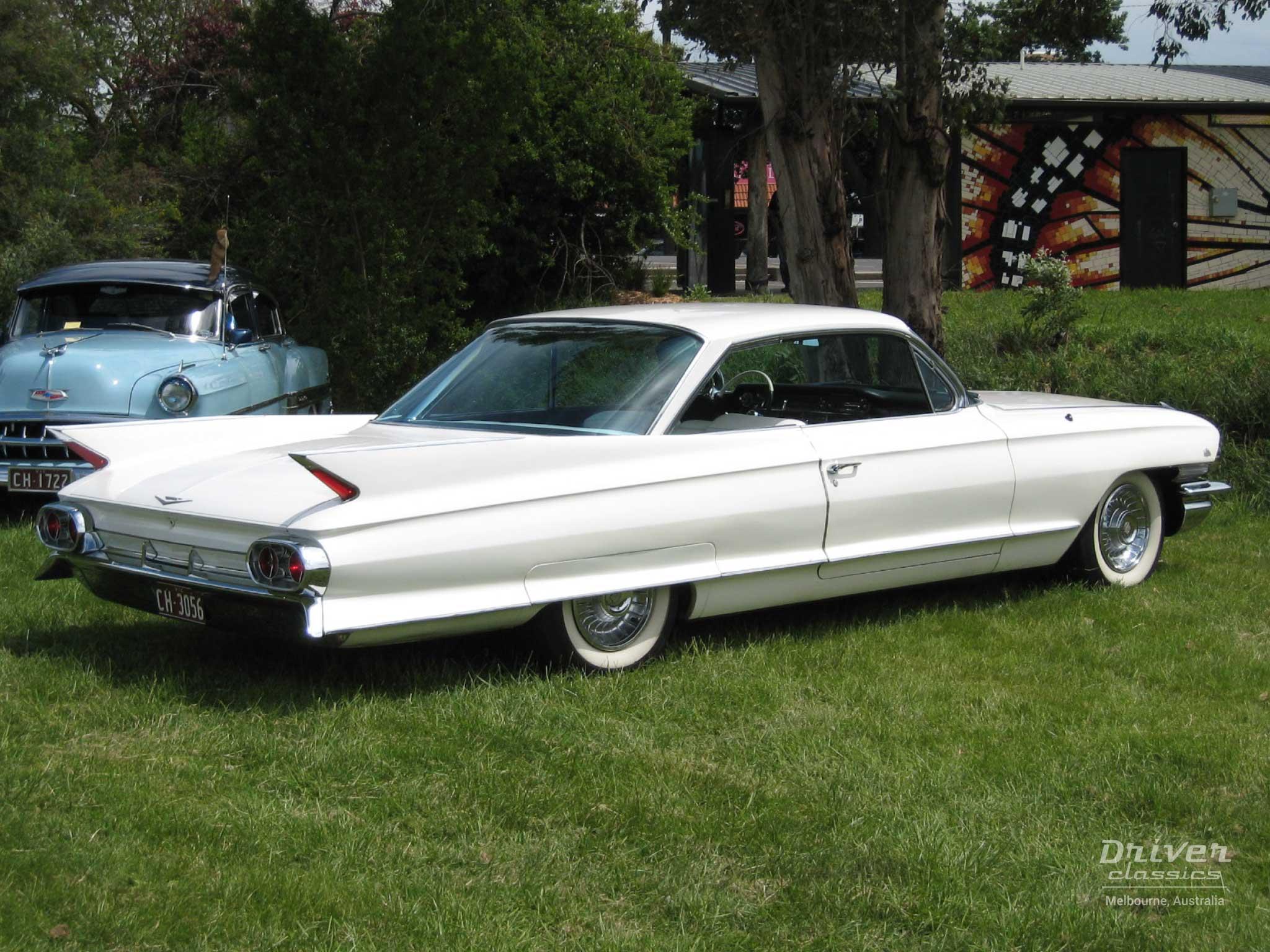 White 1961 Cadillac Coupe de Ville