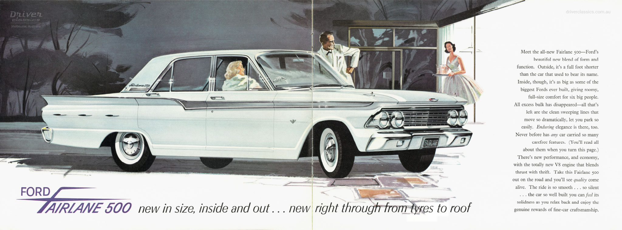 Ford Fairlane 500, 1962 model, brochure page