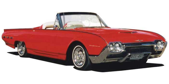 Ford Thunderbird Sports Roadster car, 1962 model