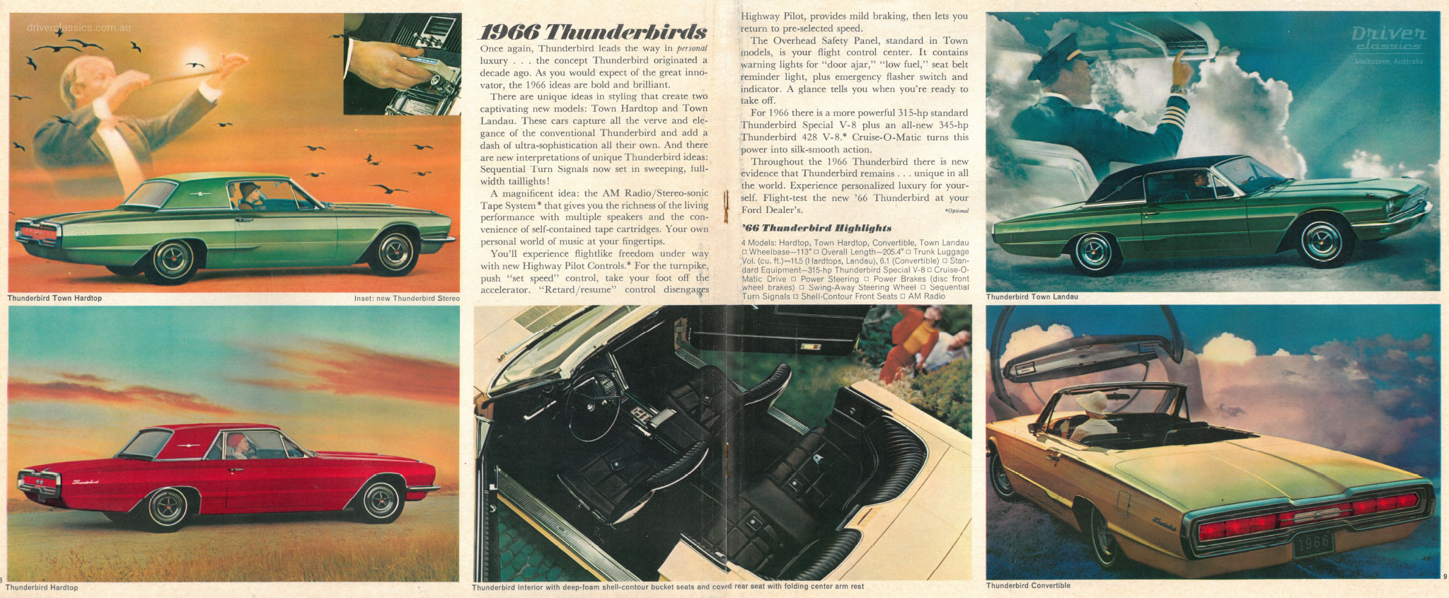 Page from of 1966 Ford Thunderbird brochure