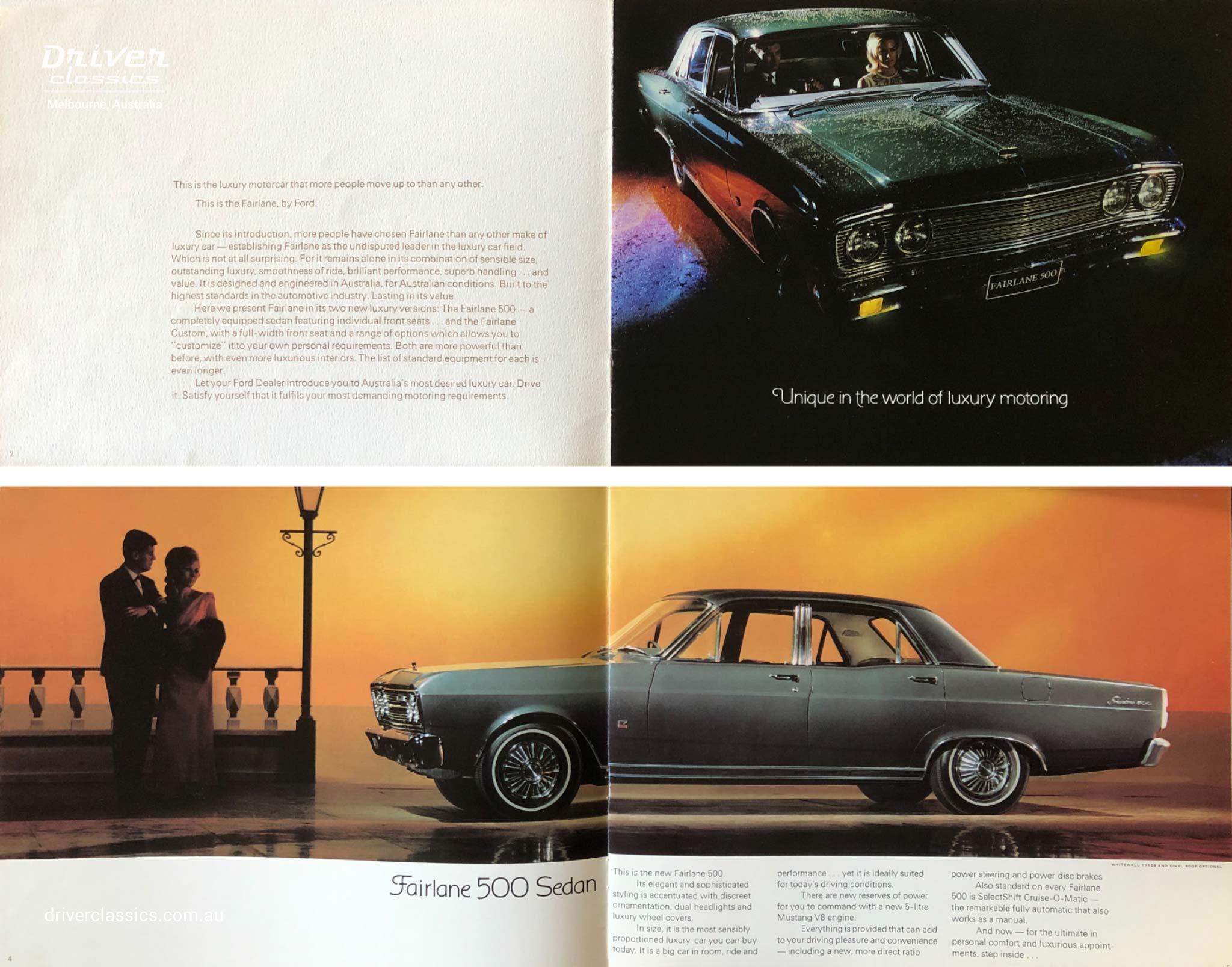 1968 Ford Fairlane 500 brochure, Australian Fairlane 500