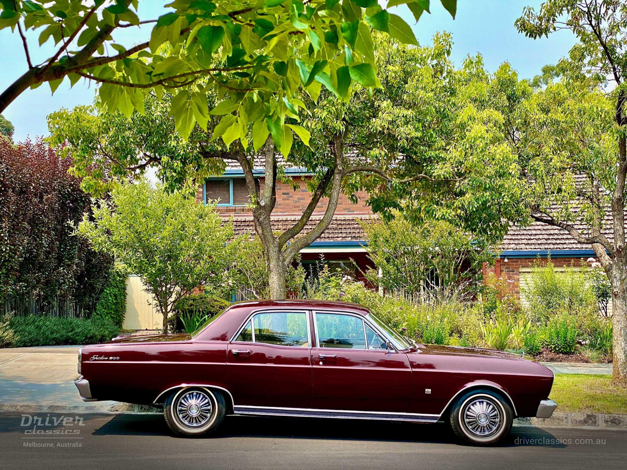 Ford Fairlane 500, 1968 version, Side profile, Glen Iris VIC, Photo taken January 2020